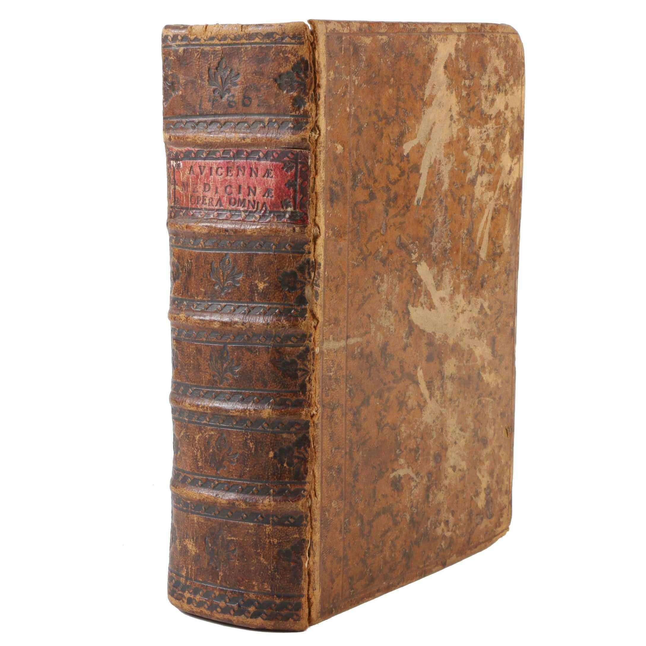 """1486 Avicenna """"Canon of Medicine"""" Incuanble Printed by Petrus Maufer"""