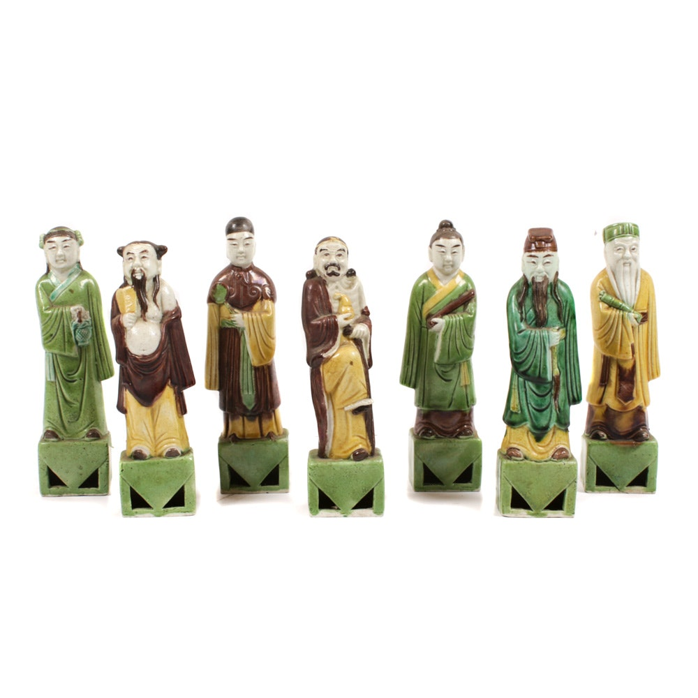 Chinese Sancai Ceramic Figurines