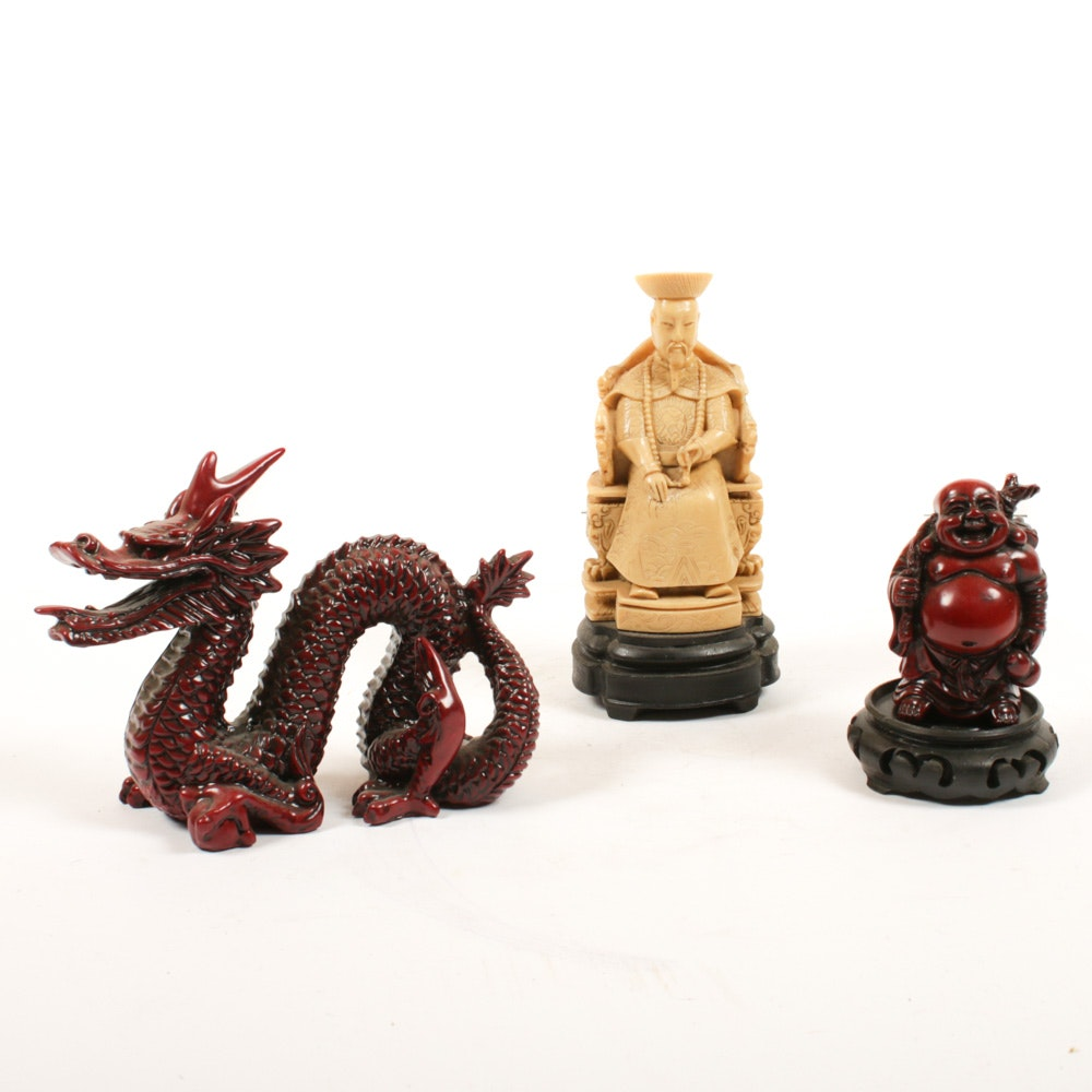 Chinese Carved Resin Figurines