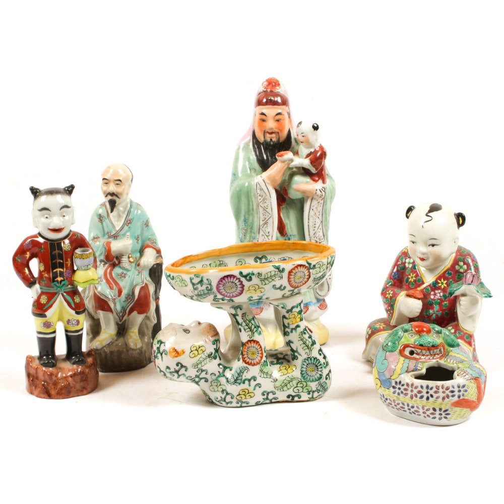 Chinese Hand-Painted Porcelain Figurines