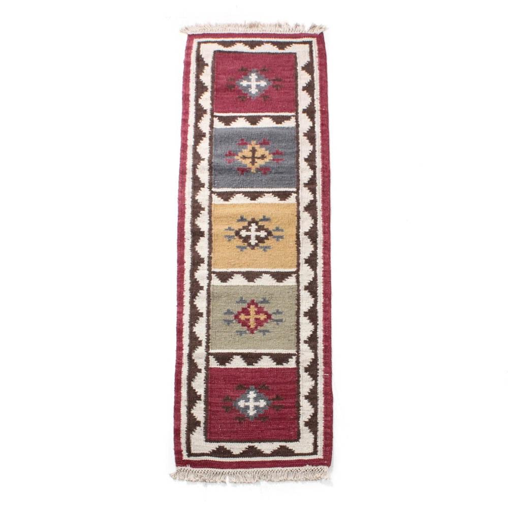 Handwoven Indo-Turkish Kilim Rug
