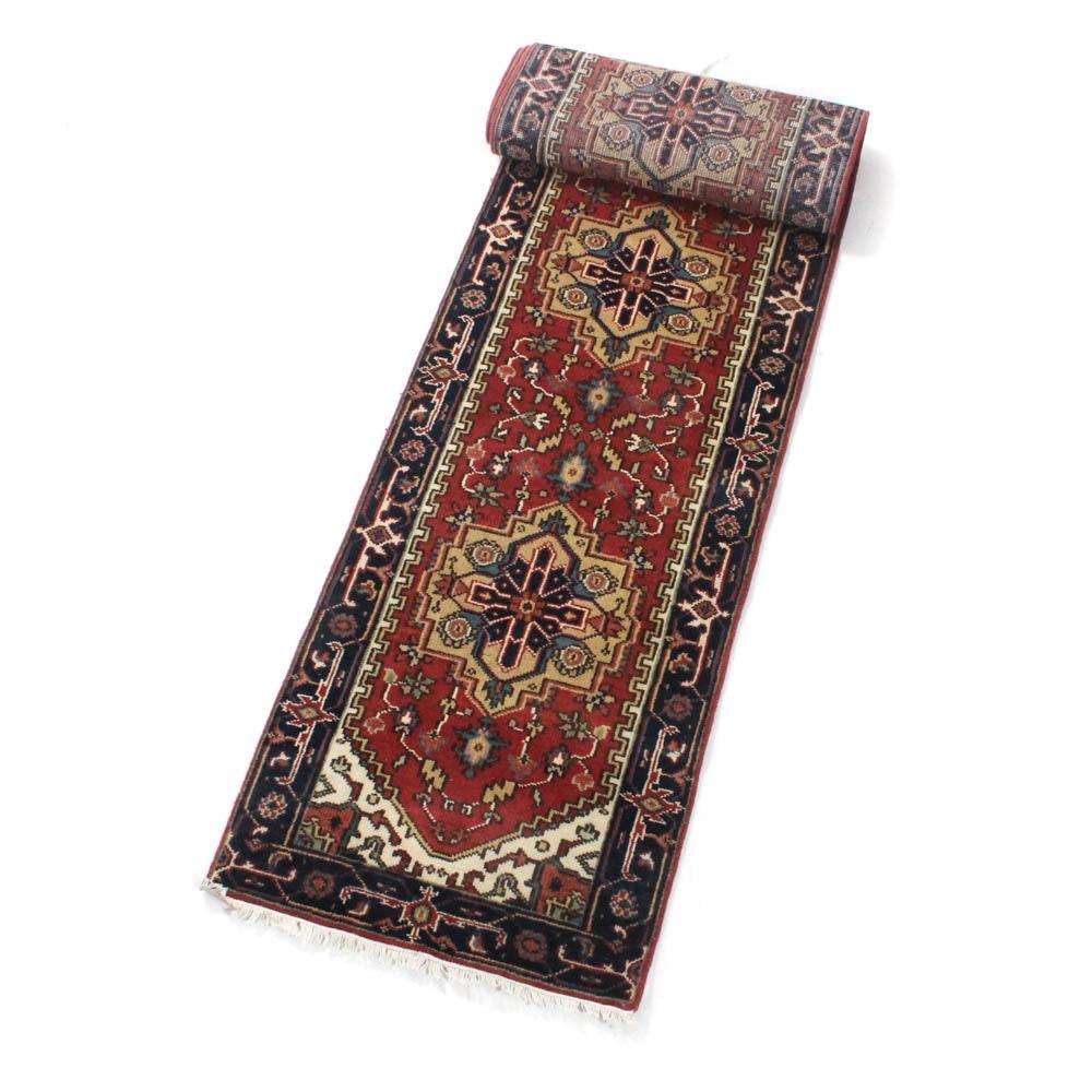 Hand-Knotted Indo-Persian Heriz Serapi Rug