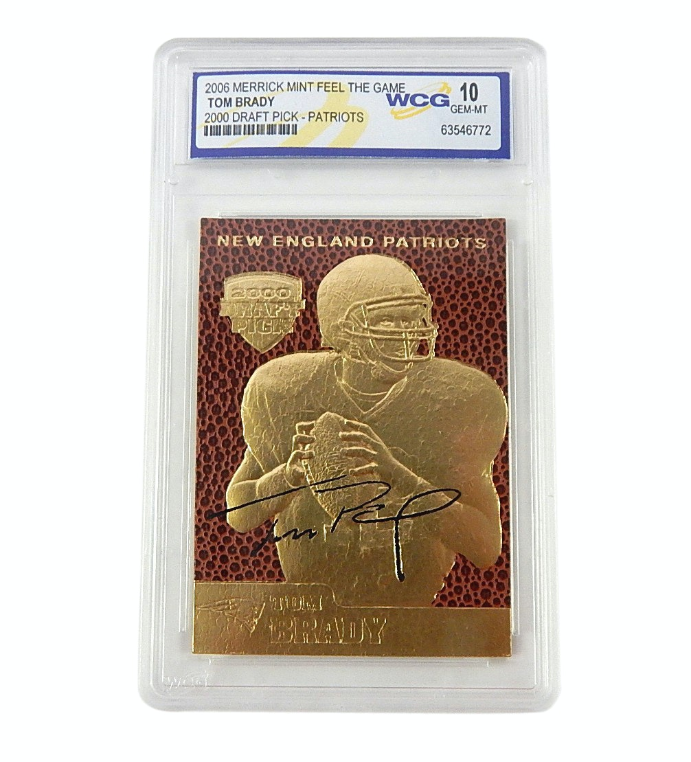 WCG GEM-MT 10 Tom Brady 2006 Merrick Mint 2000 Draft Pick Card