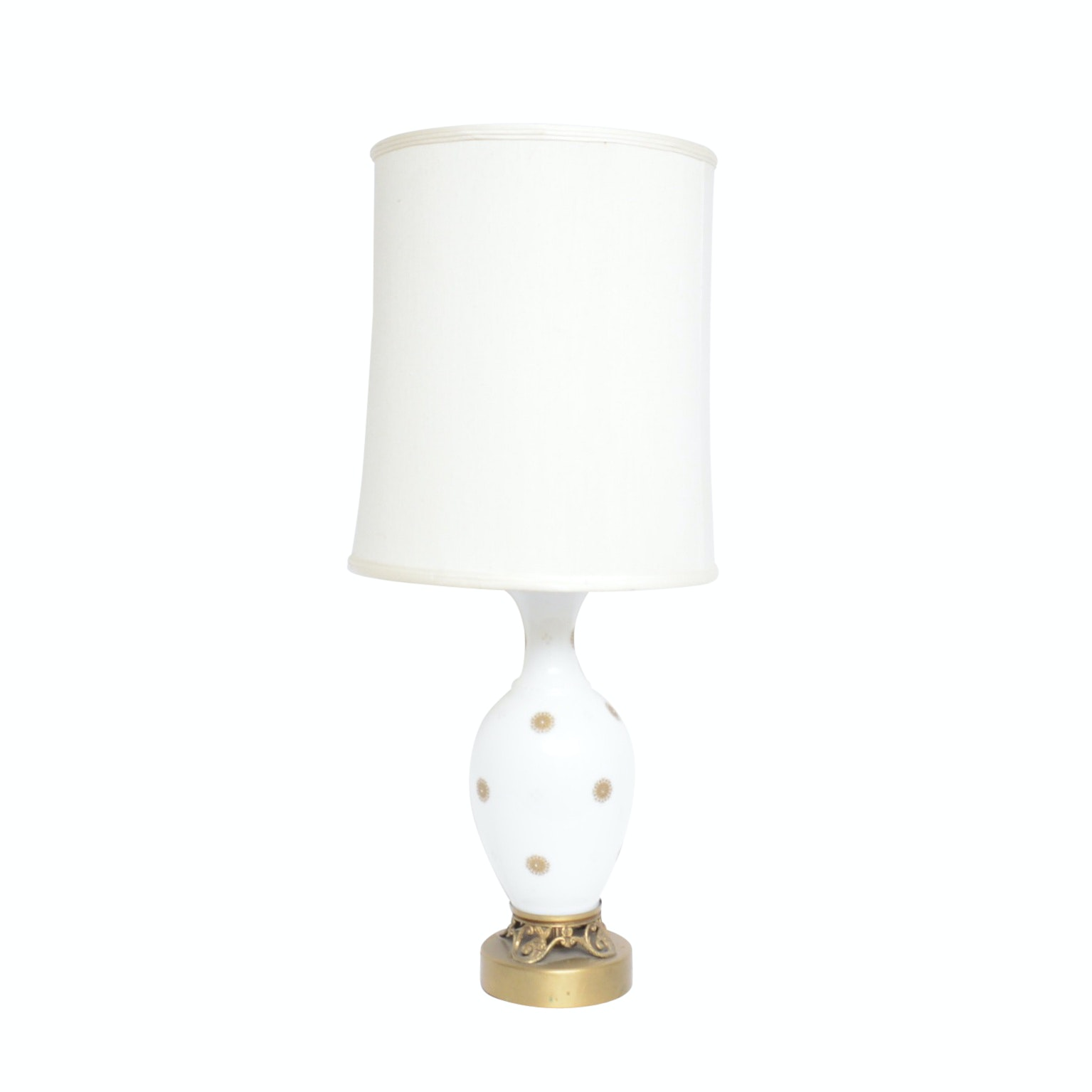 Hand Painted Porcelain and Brass Table Lamp