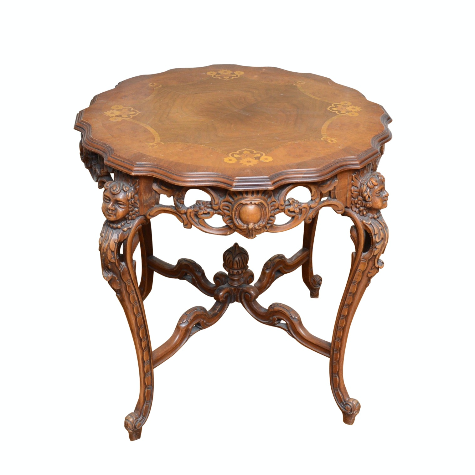 Neoclassical Style Table with Inlay Accents