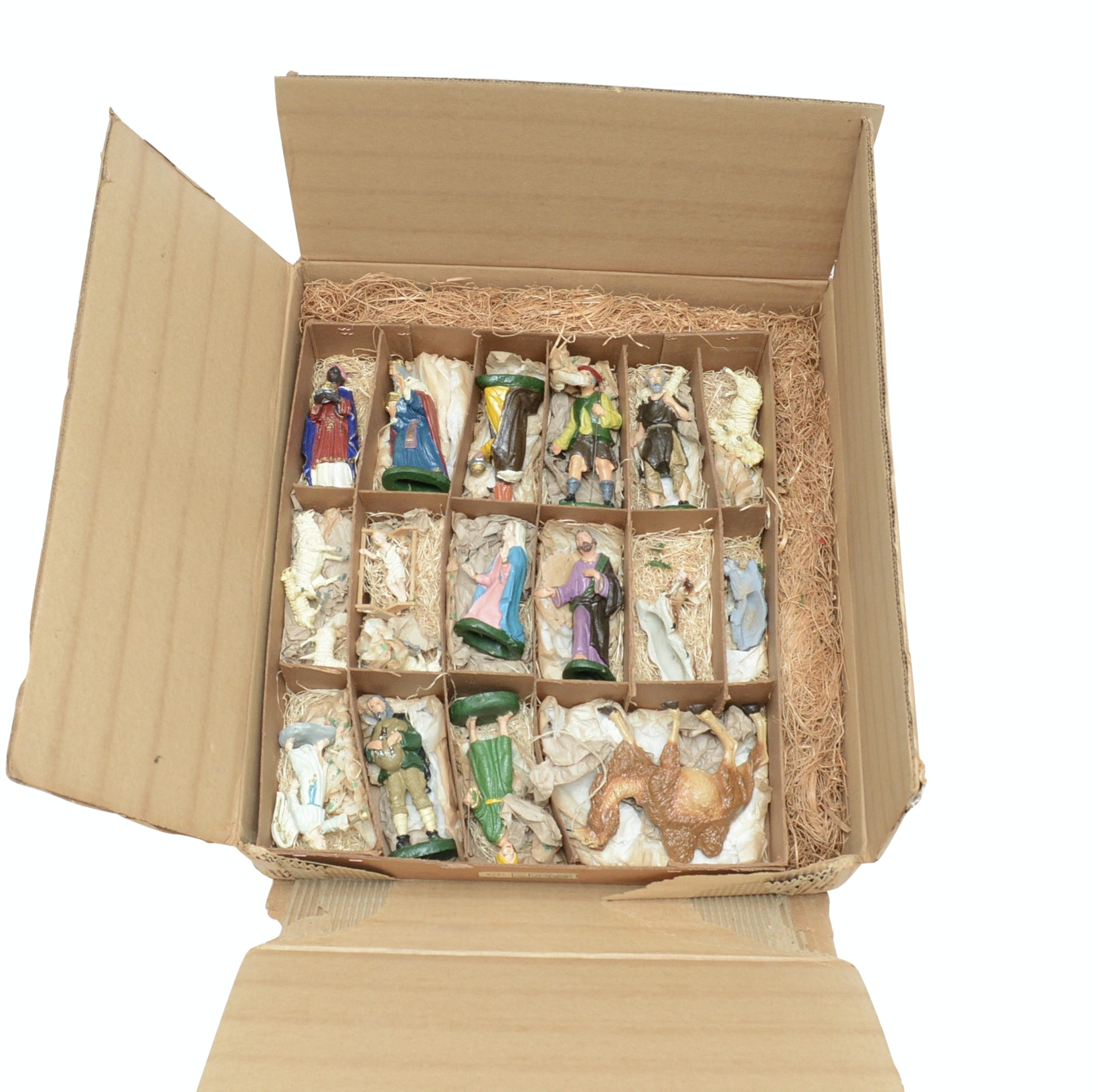 Vintage Wooden Nativity Figurines