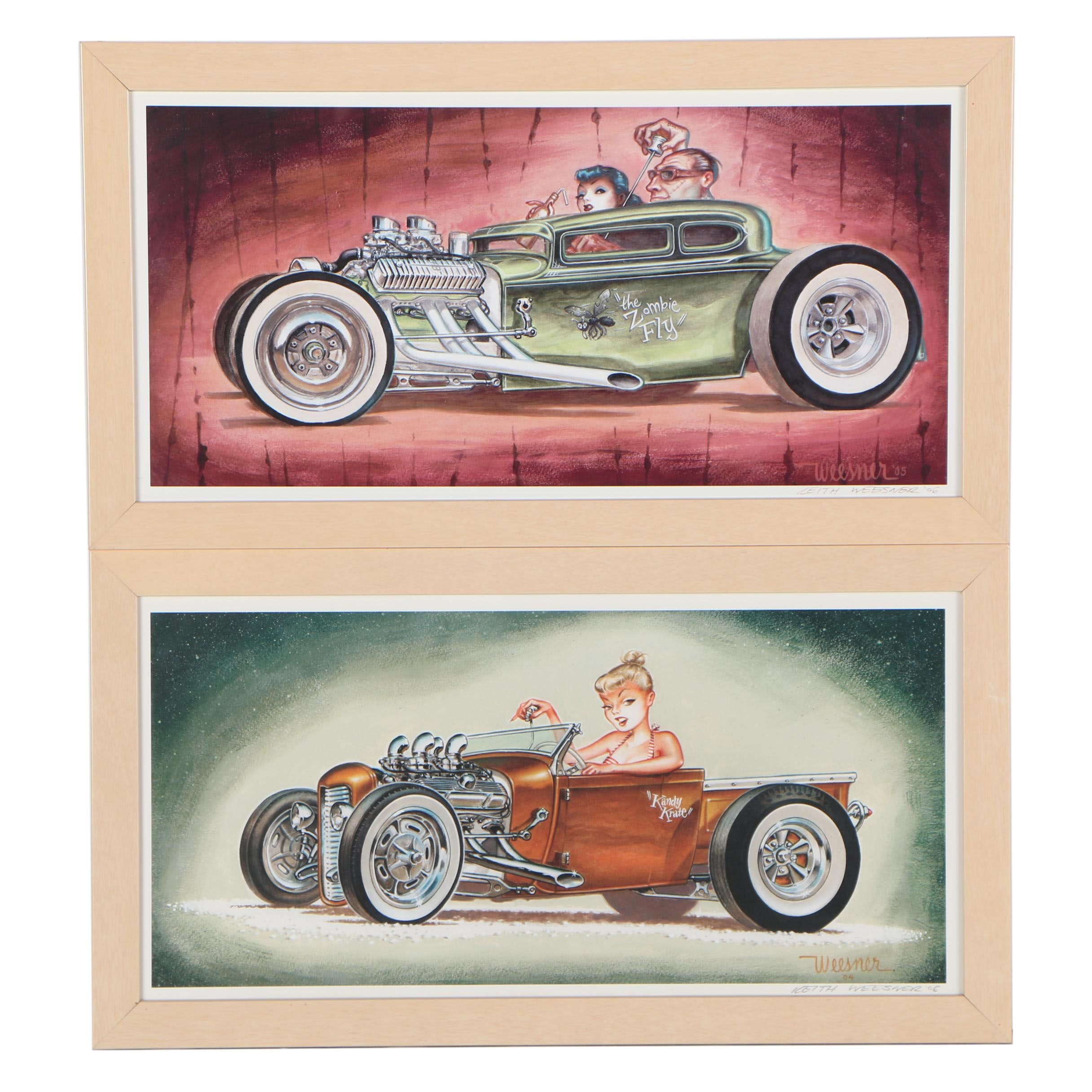 """Keith Weesner Offset Lithographs """"Kandy Krate"""" and """"The Zombie Fly"""""""