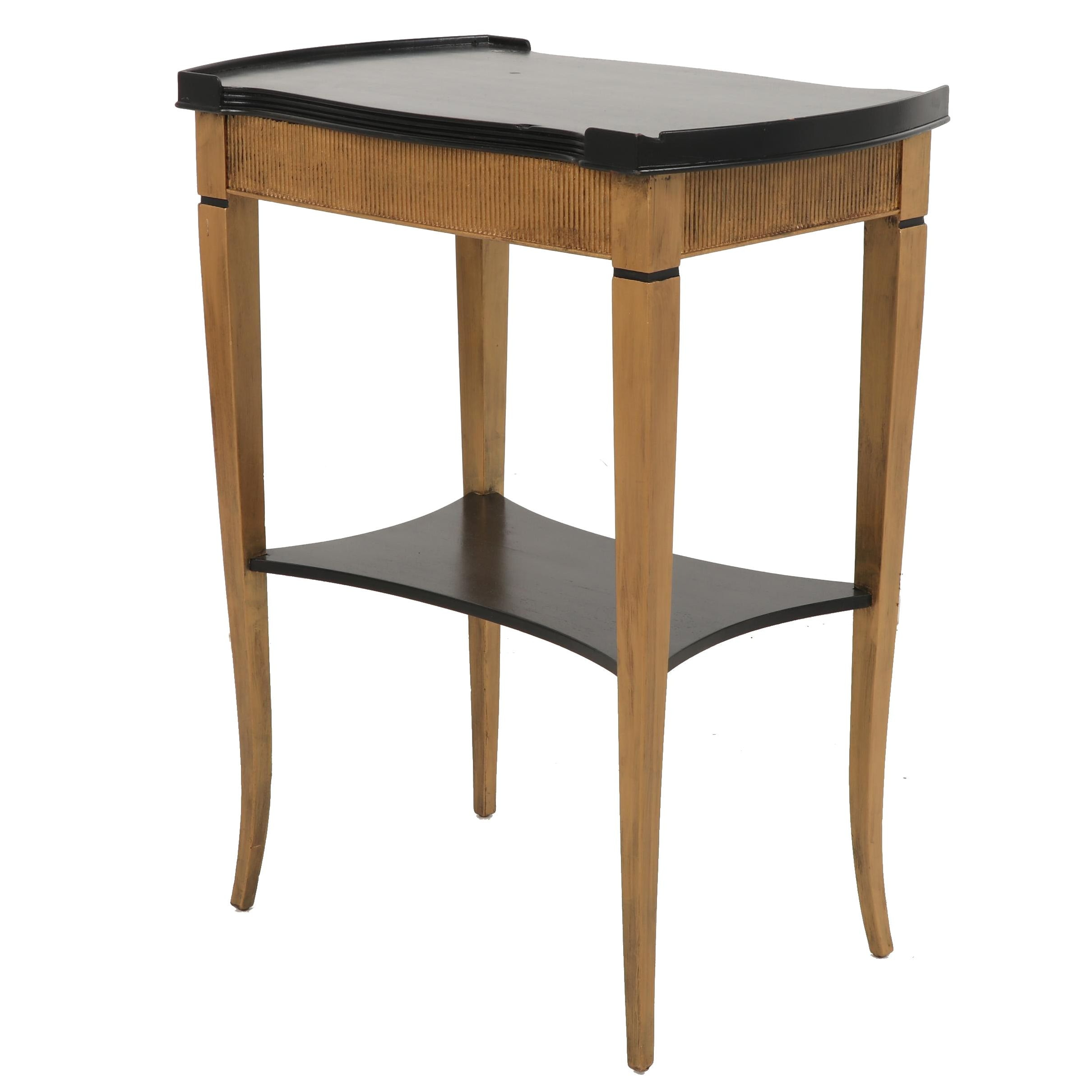 Black and Gold Toned Side Table