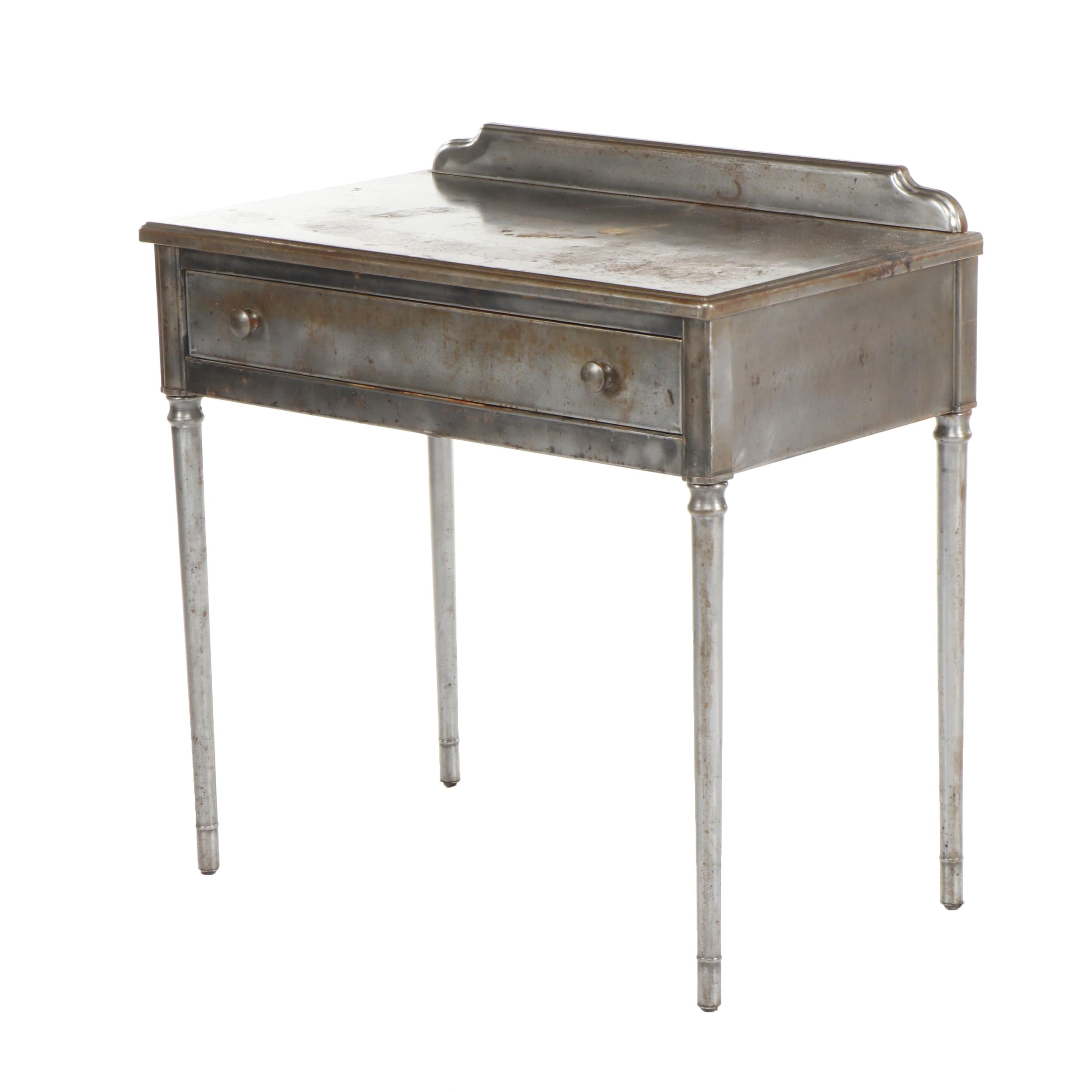 Sheraton Series Brushed Steel Desk Attributed to Simmons Furniture Circa 1930