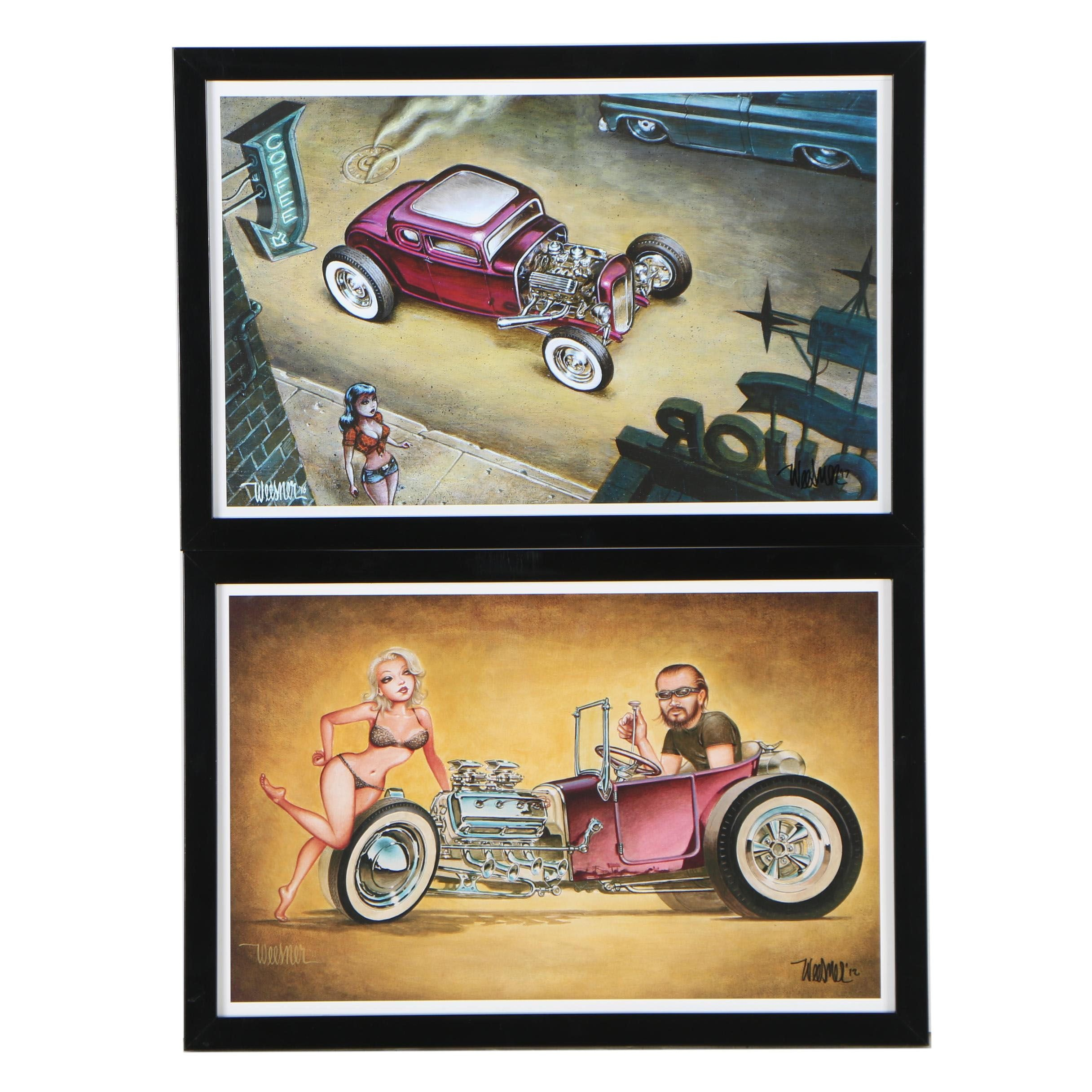 """Keith Weesner Offset Lithographs """"No Goodniks"""" and """"Night Crawl"""""""
