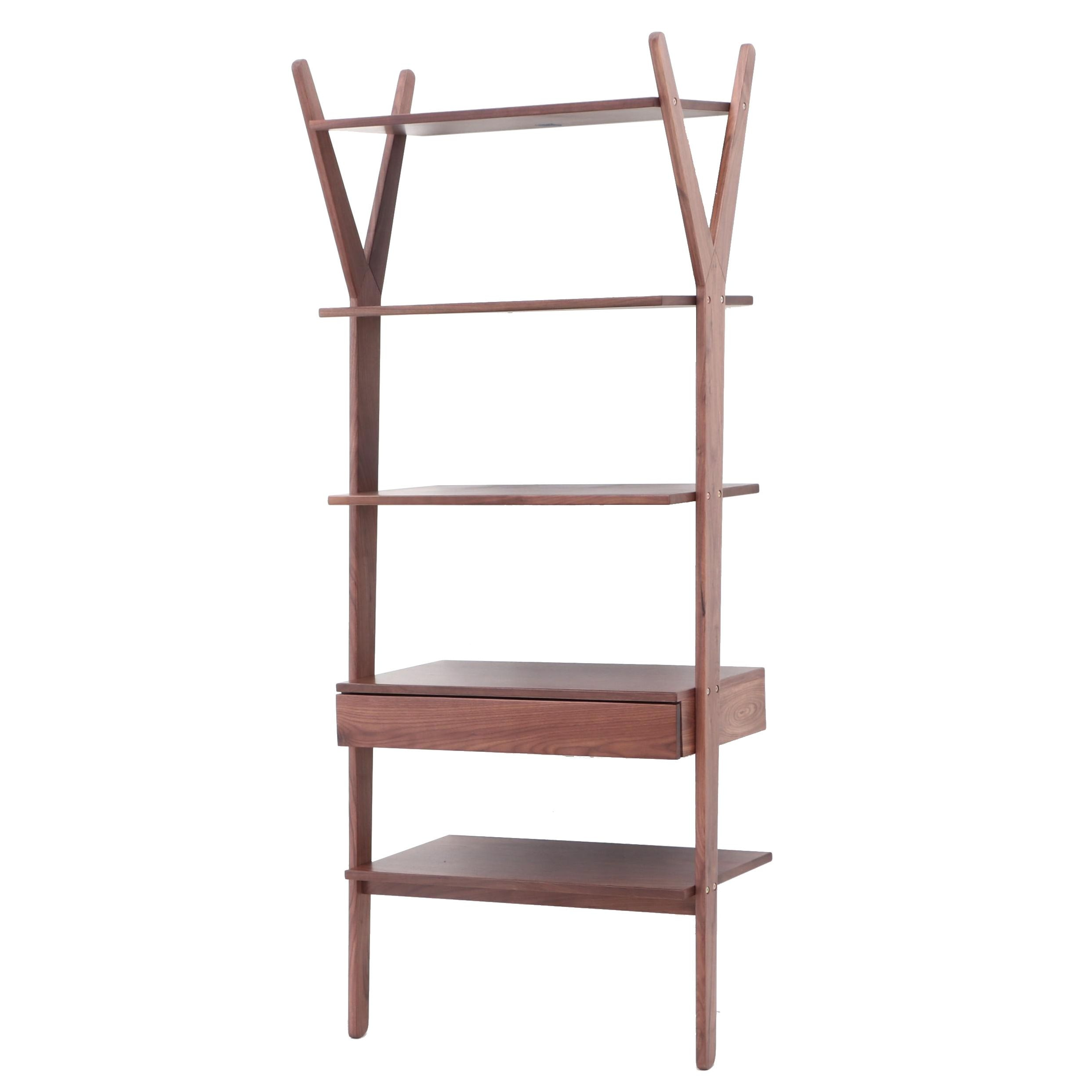 """Lignum"" Walnut Veneer Shelves by Article Furniture"
