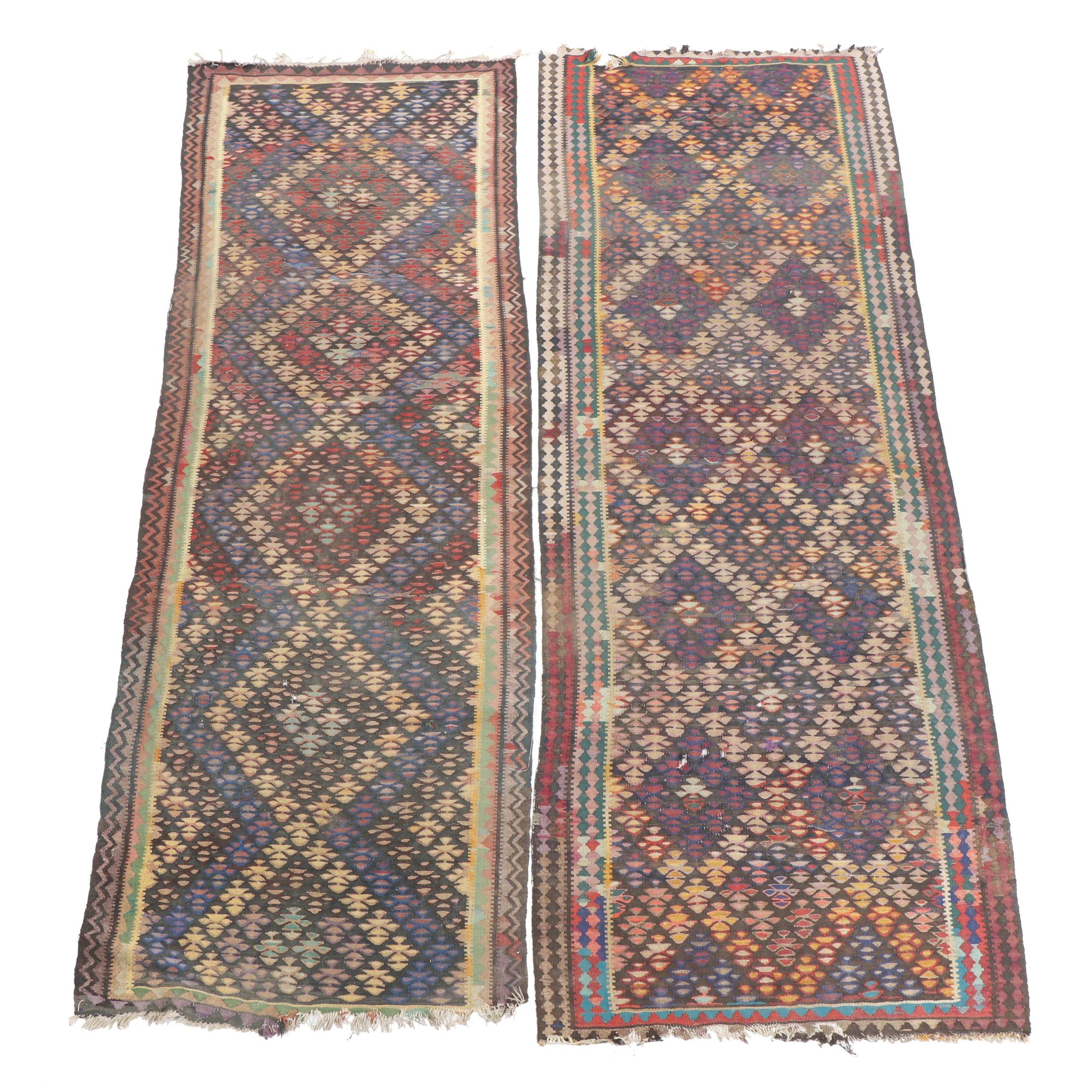 Handwoven Anatolian Wool Long Rugs