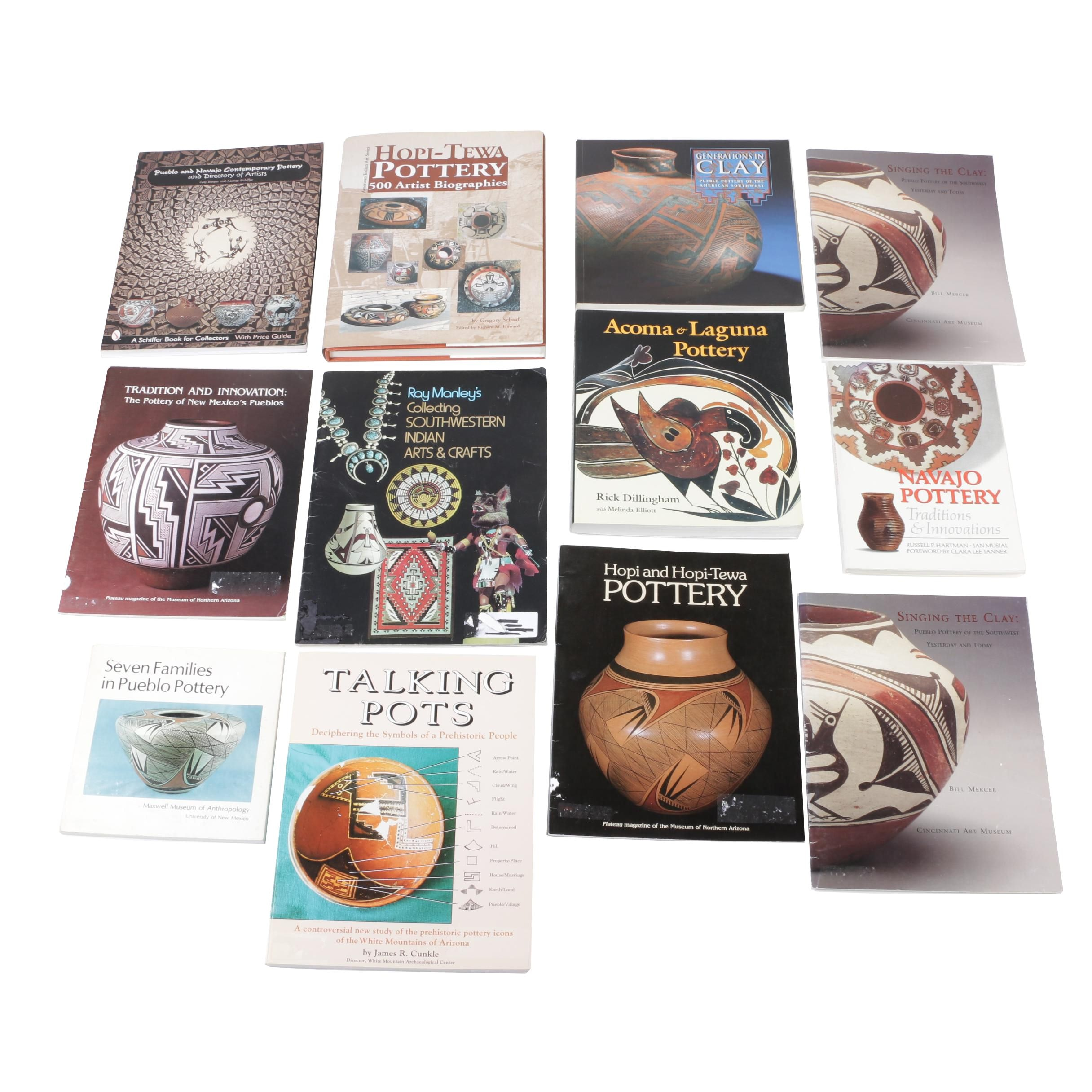 Books on Native American Pottery, Including Signed by Author
