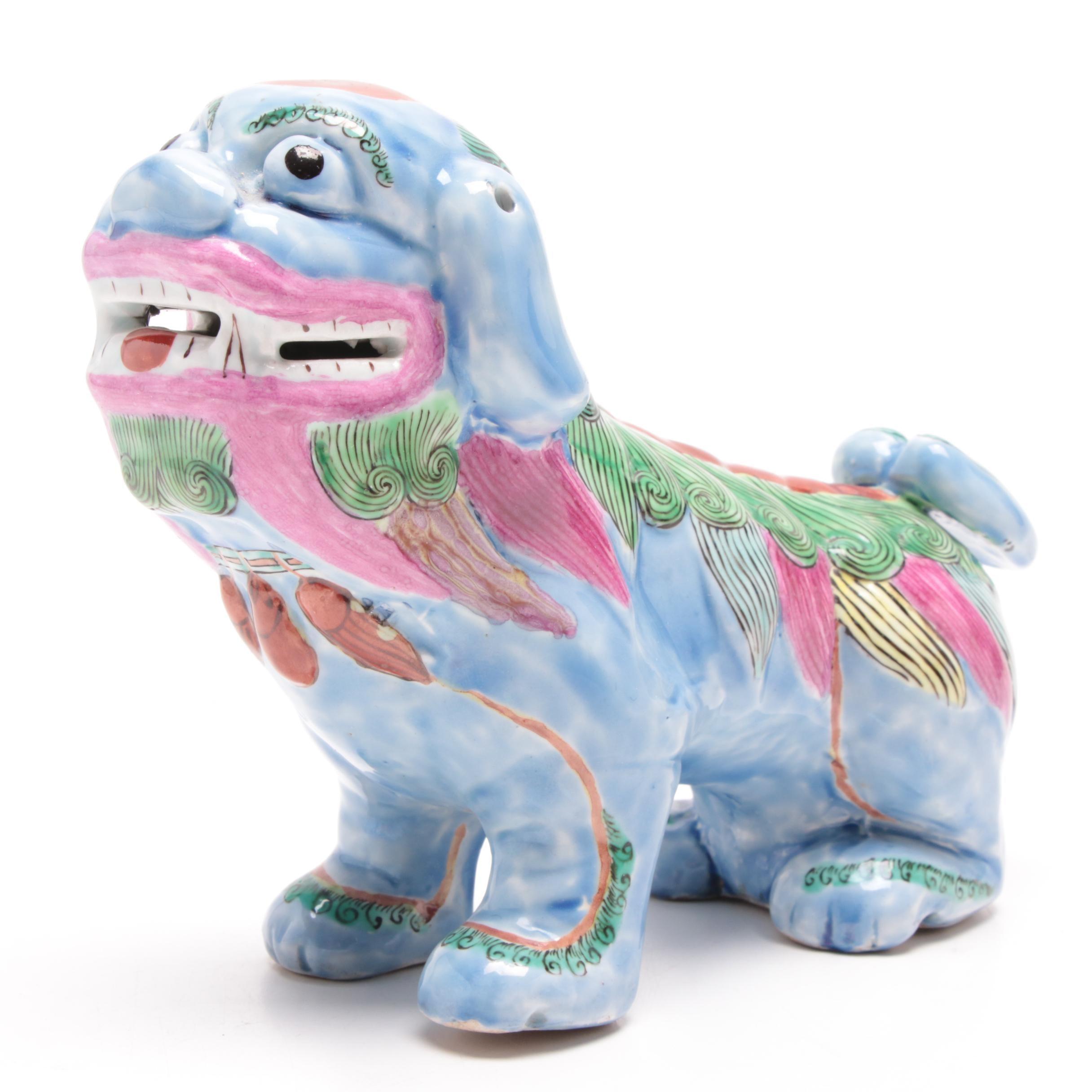 Chinese Ceramic Lion Figurine