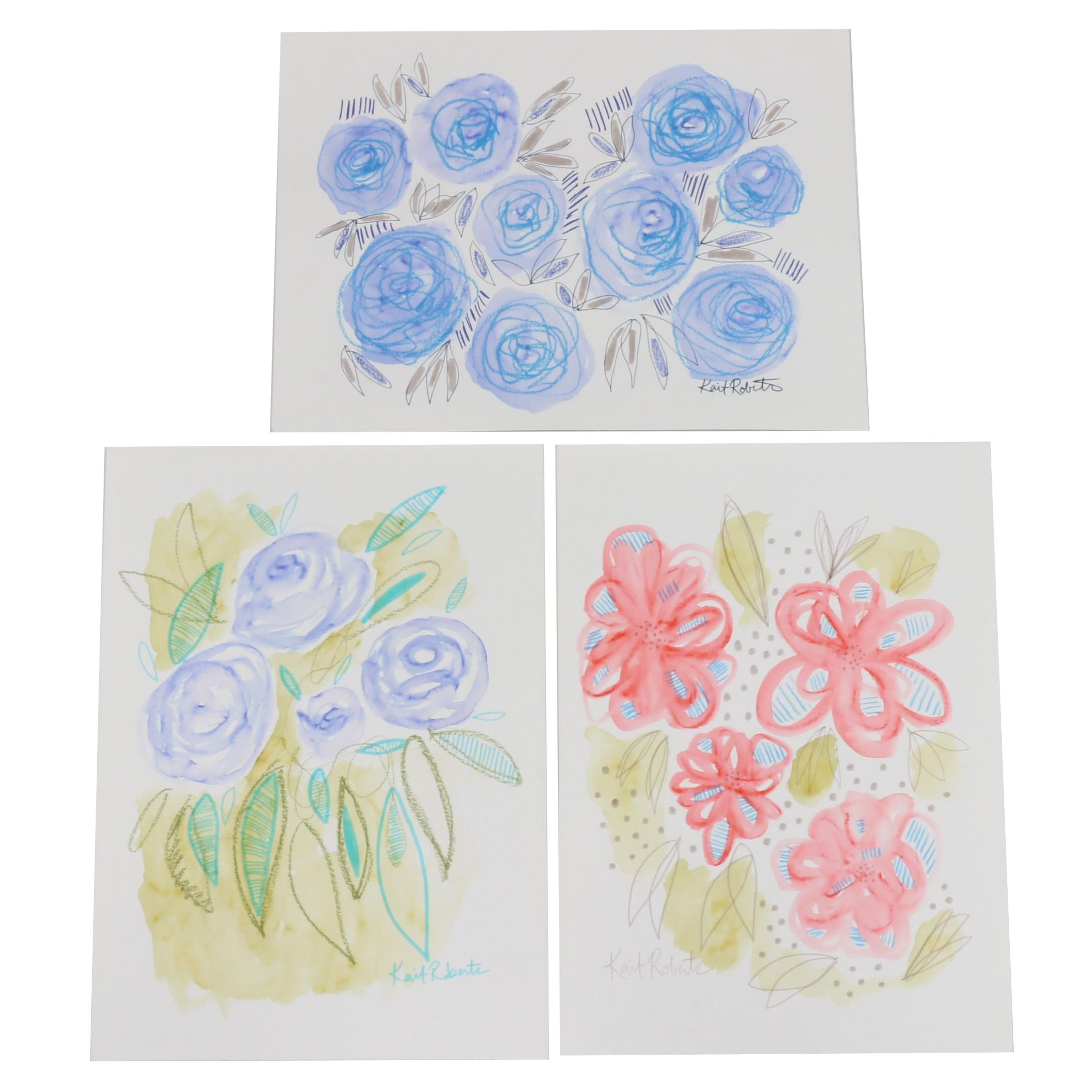 Kait Roberts Floral Watercolor Paintings