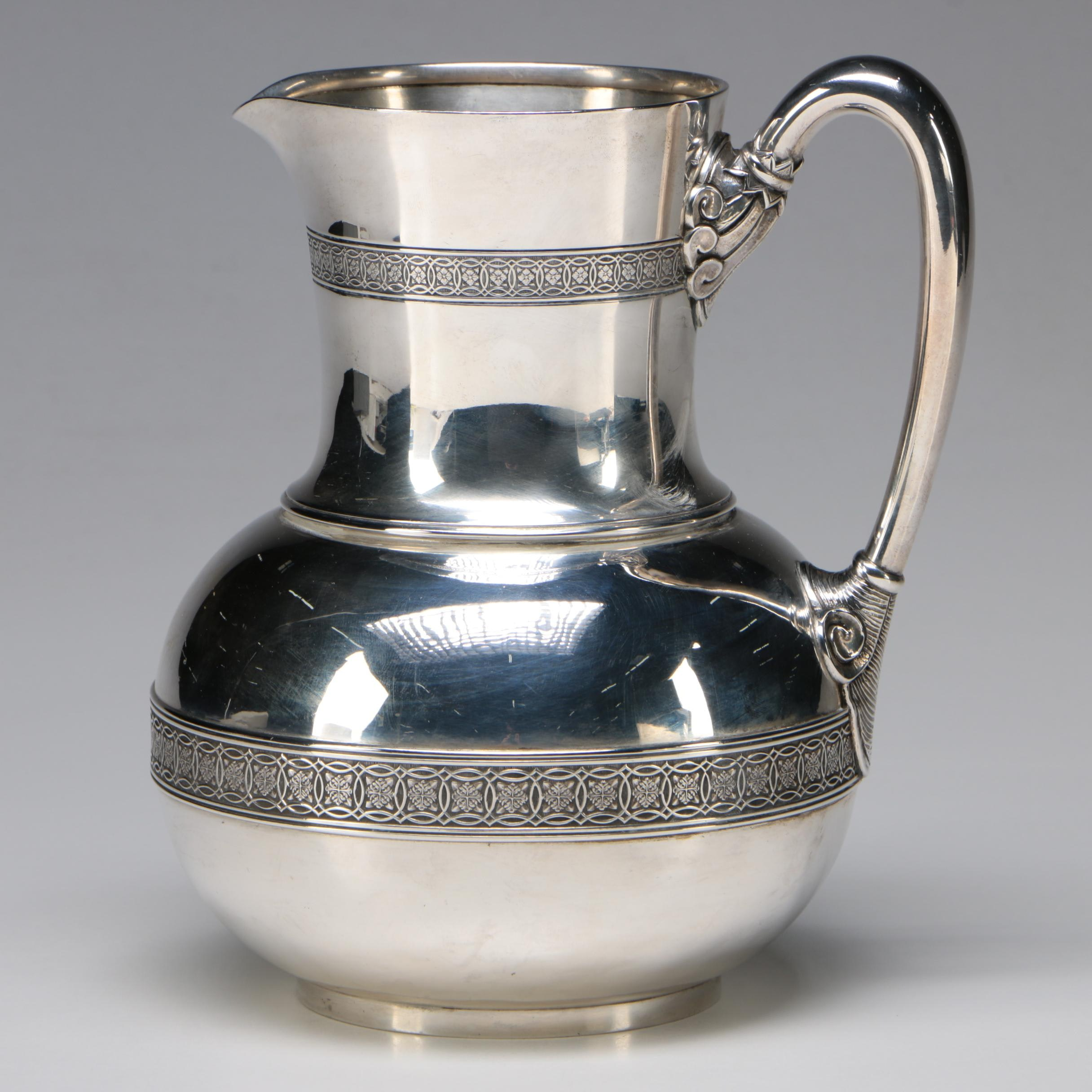 Tiffany & Co. Sterling Silver Water Pitcher, 1865-1869