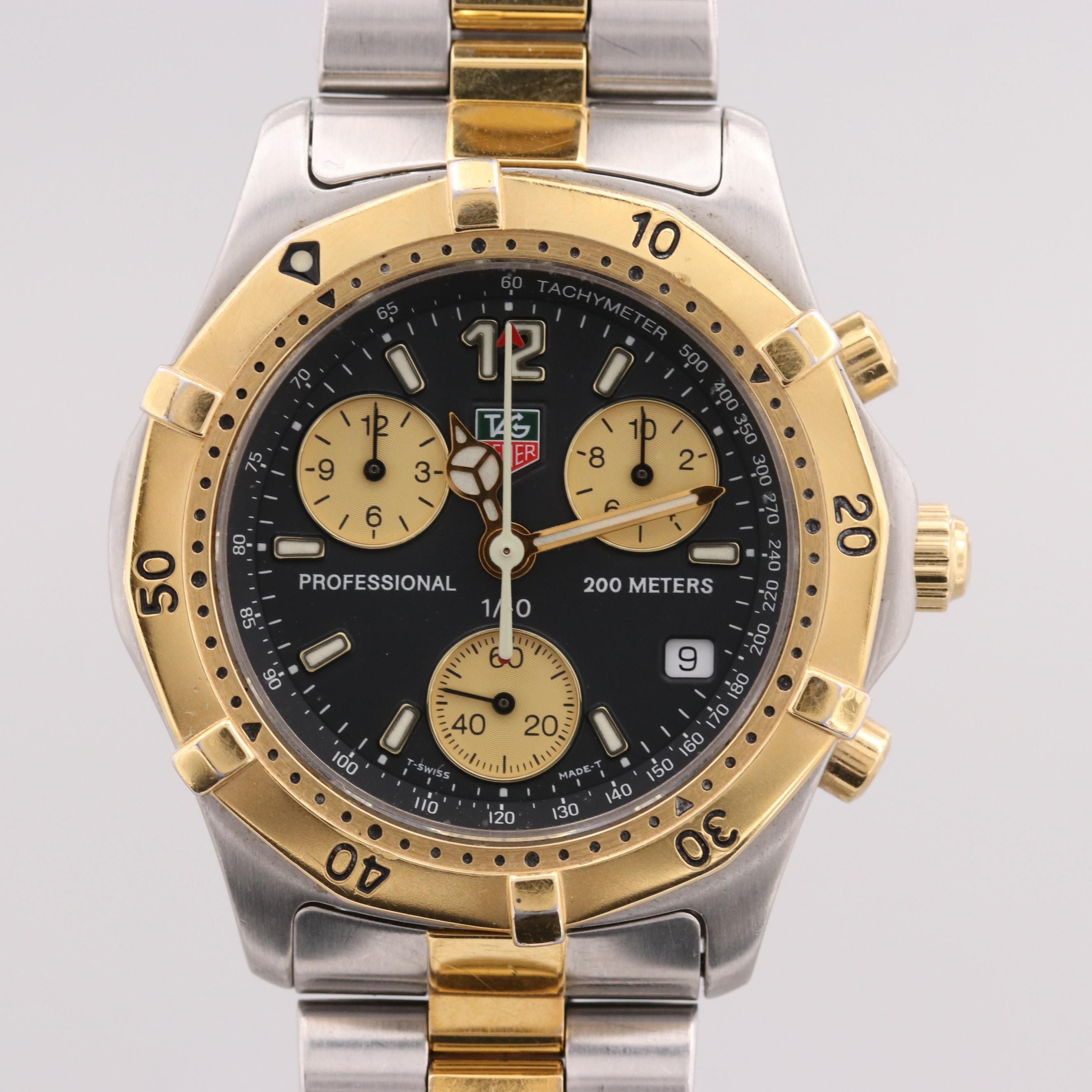 TAG Heuer Two Tone Stainless Steel Chronograph Wristwatch