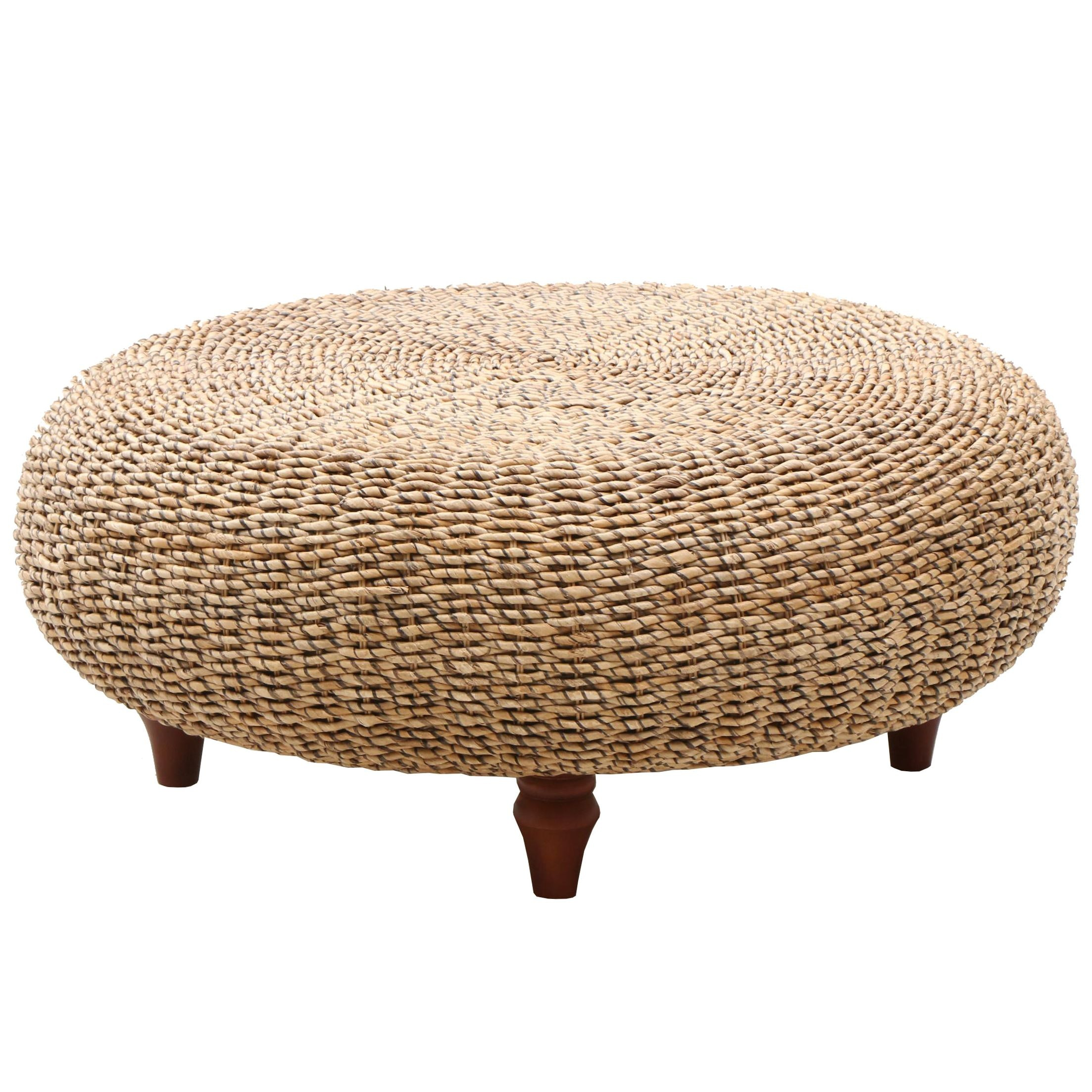 Ottoman in Woven Banana Fiber by Padma's Plantation