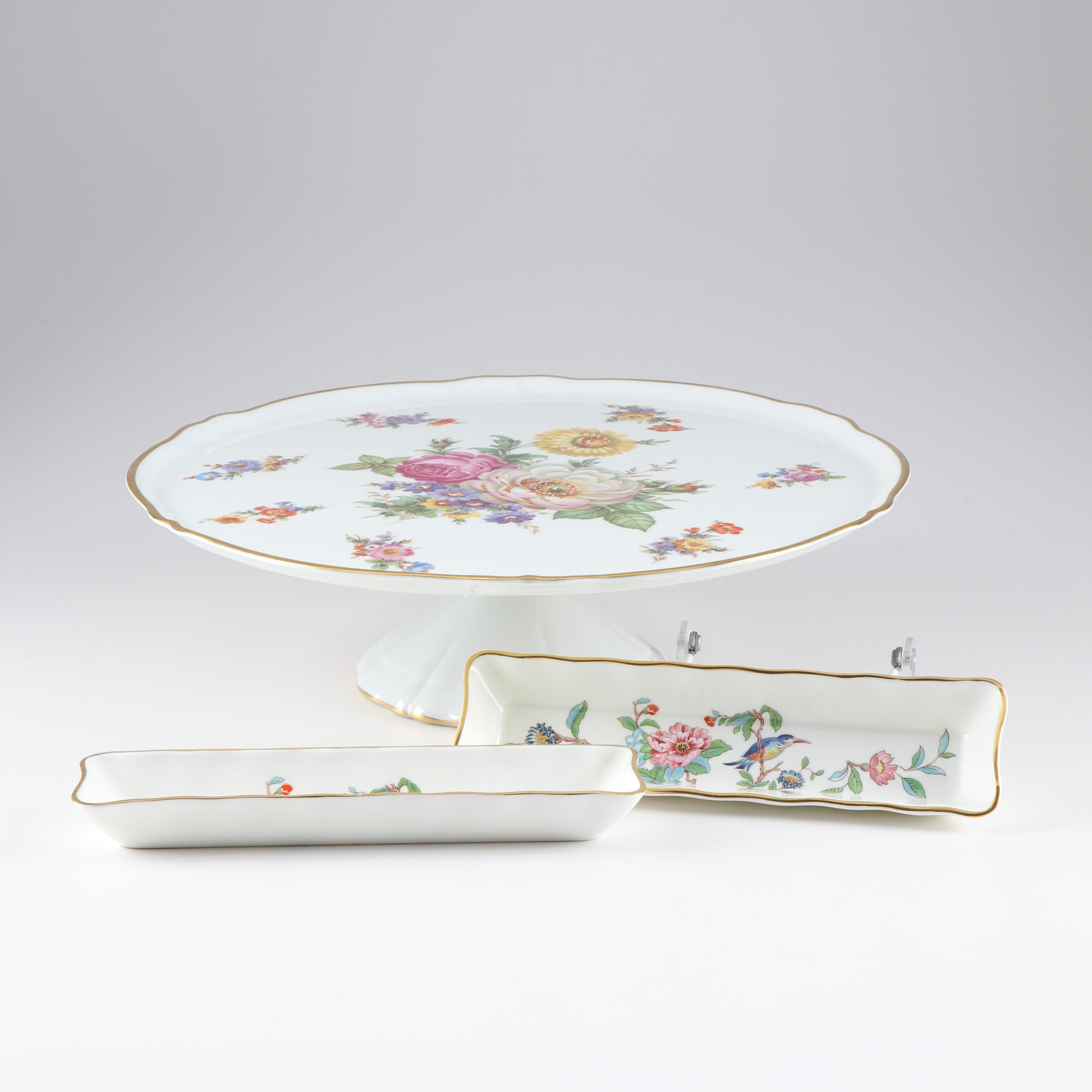 Hand Painted Cake Stand and Mint Trays