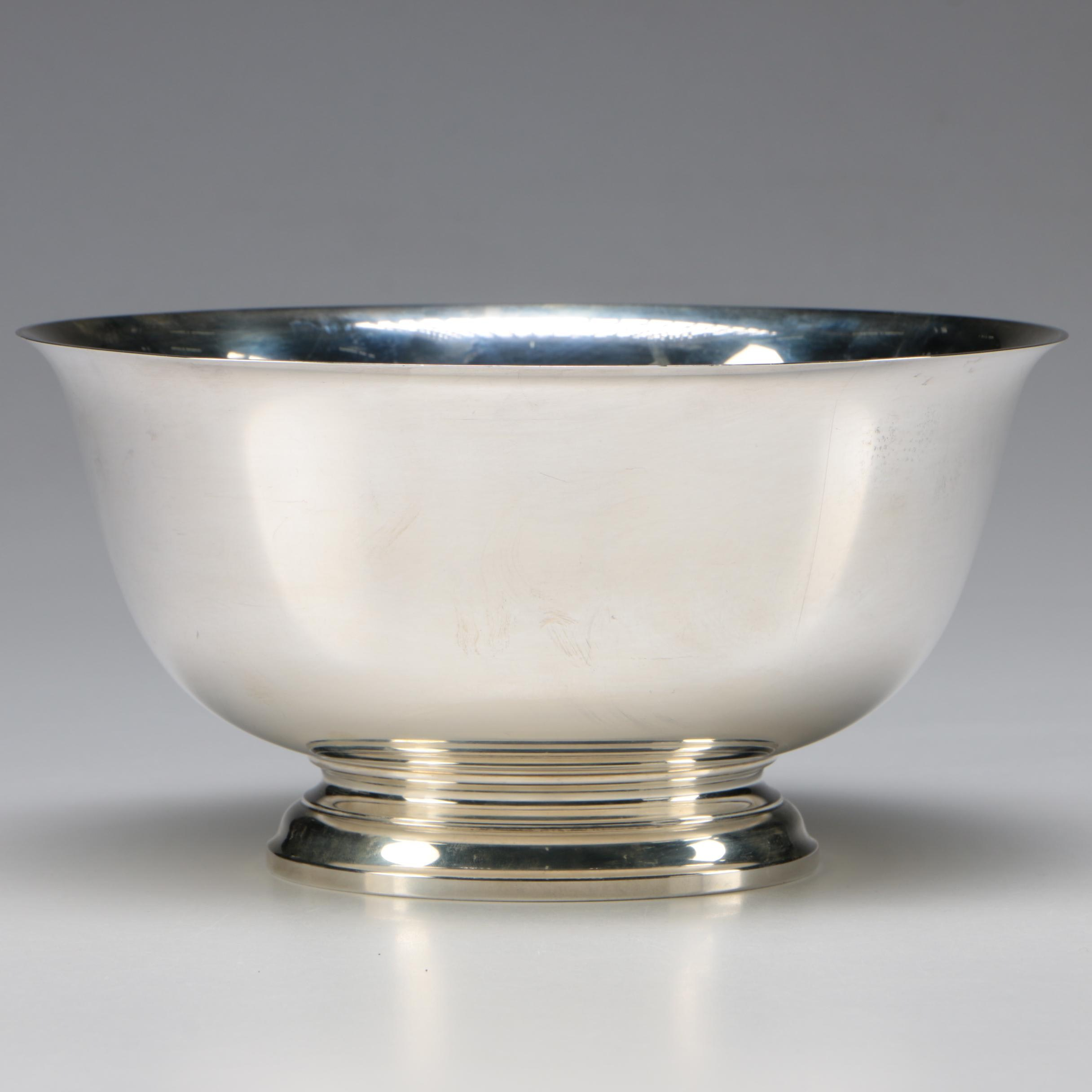 Gorham Sterling Silver Reproduction Paul Revere Bowl, 1956