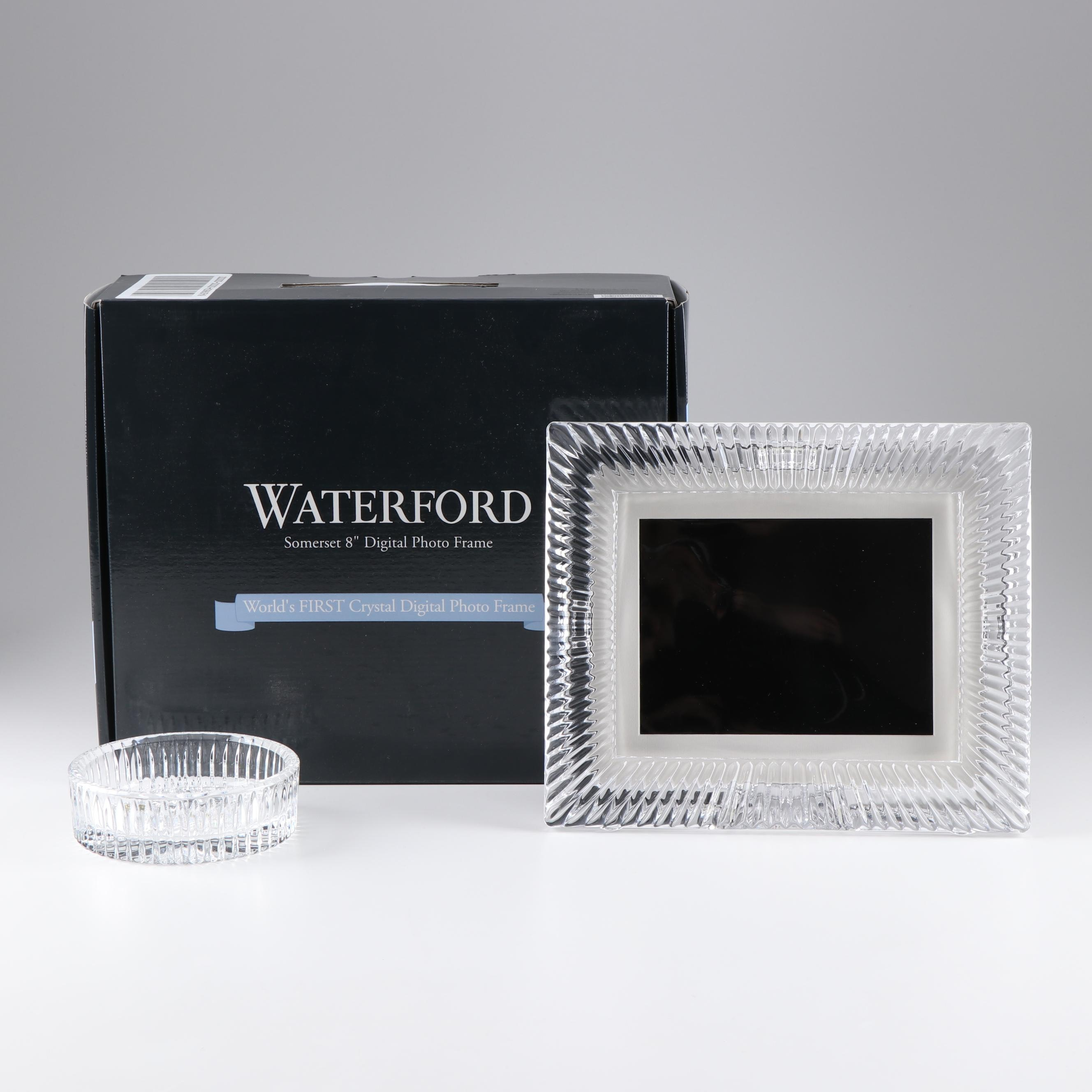 Waterford Digital Photo Frame and an Ashtray