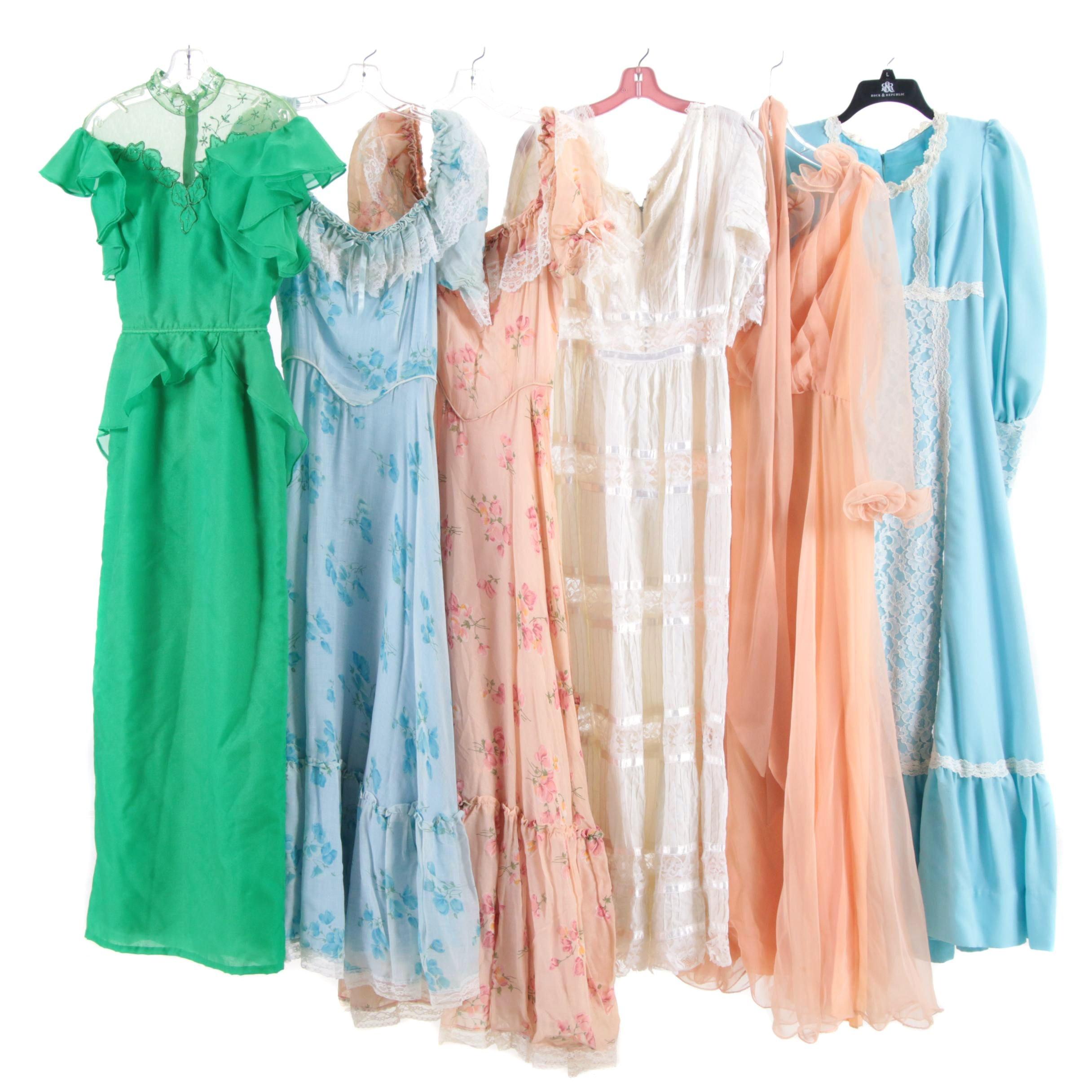 Dresses Including Miss Elliette California, 1970s Vintage