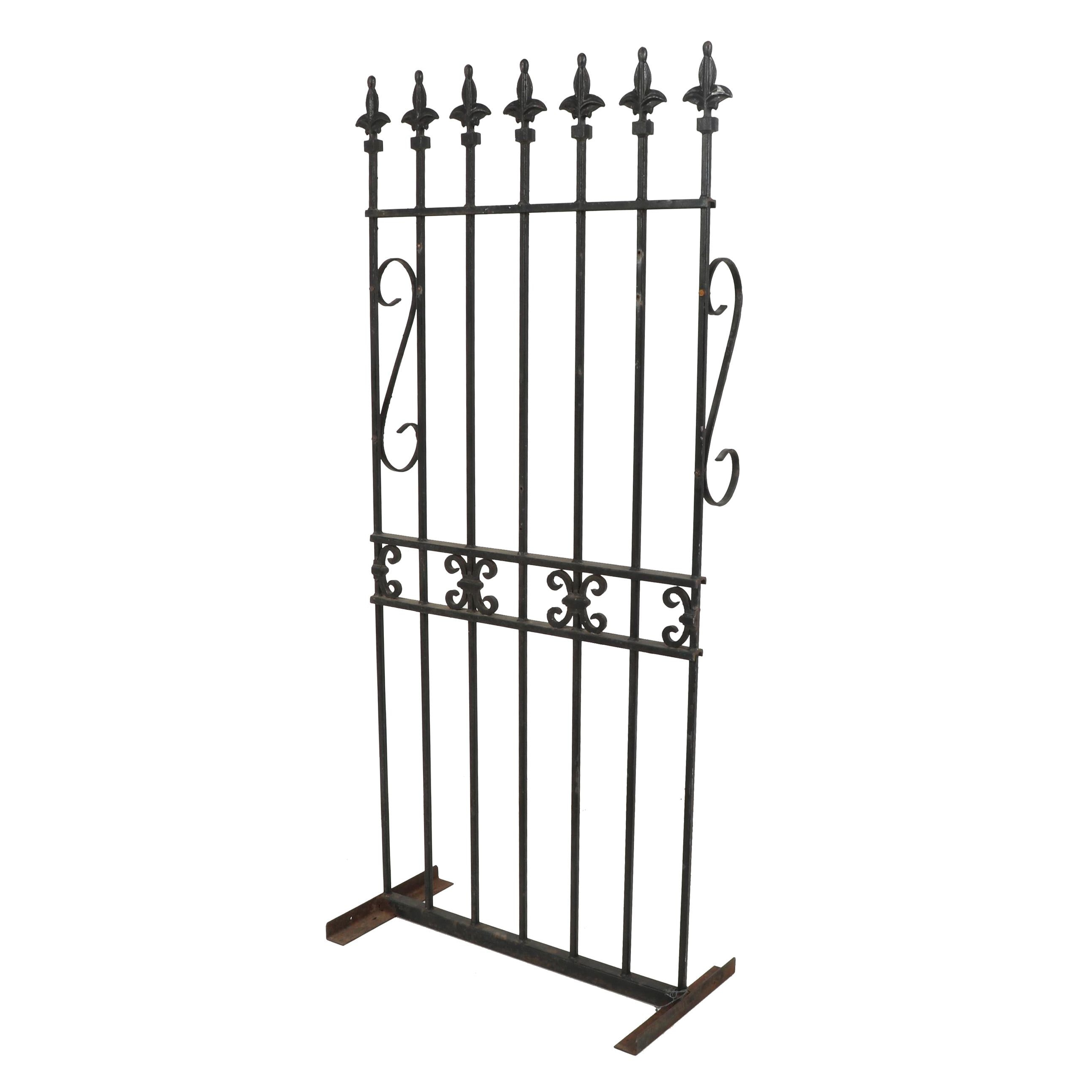 Gothic Style Wrought Iron Fence Divider