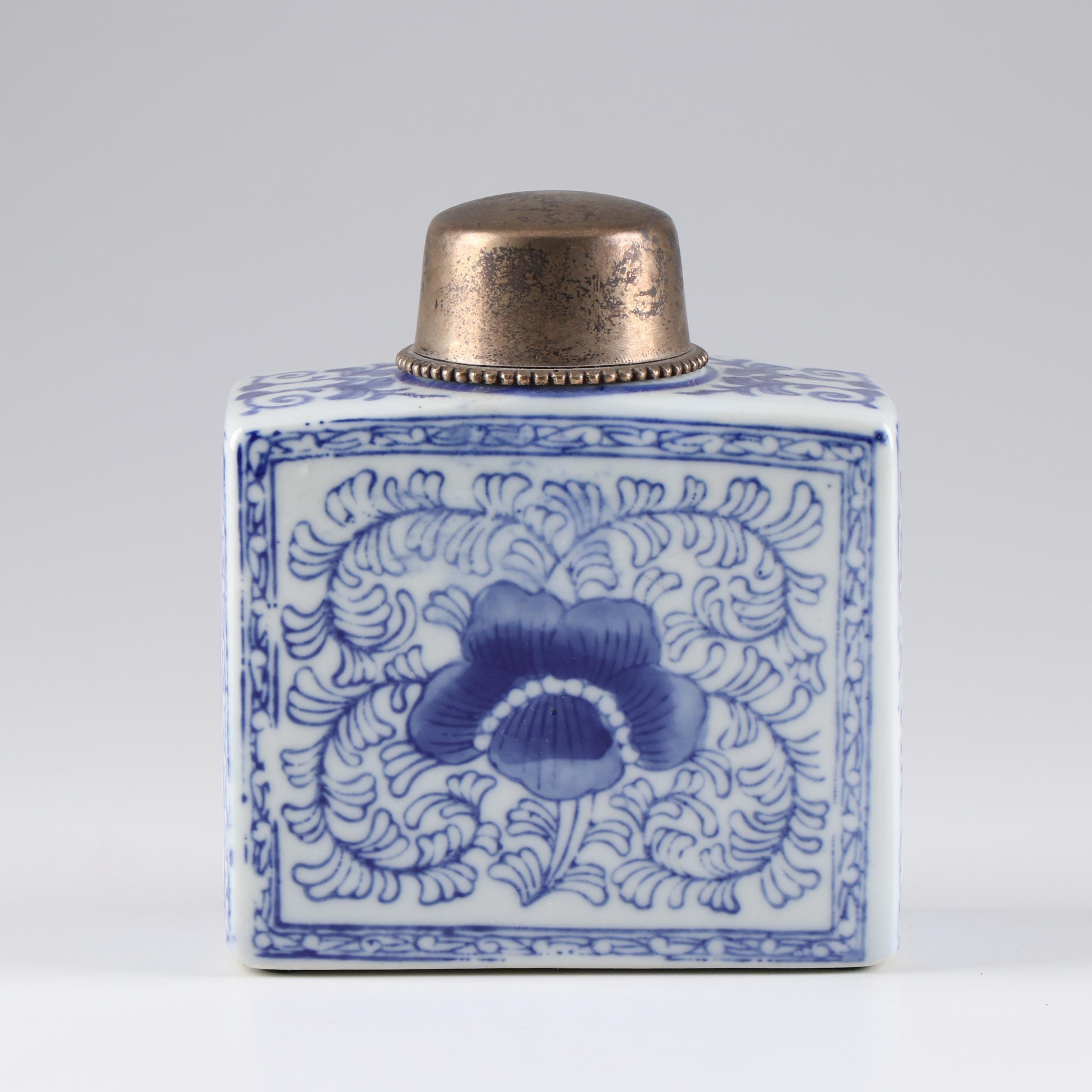 Chinese Blue and White Ceramic Bottle