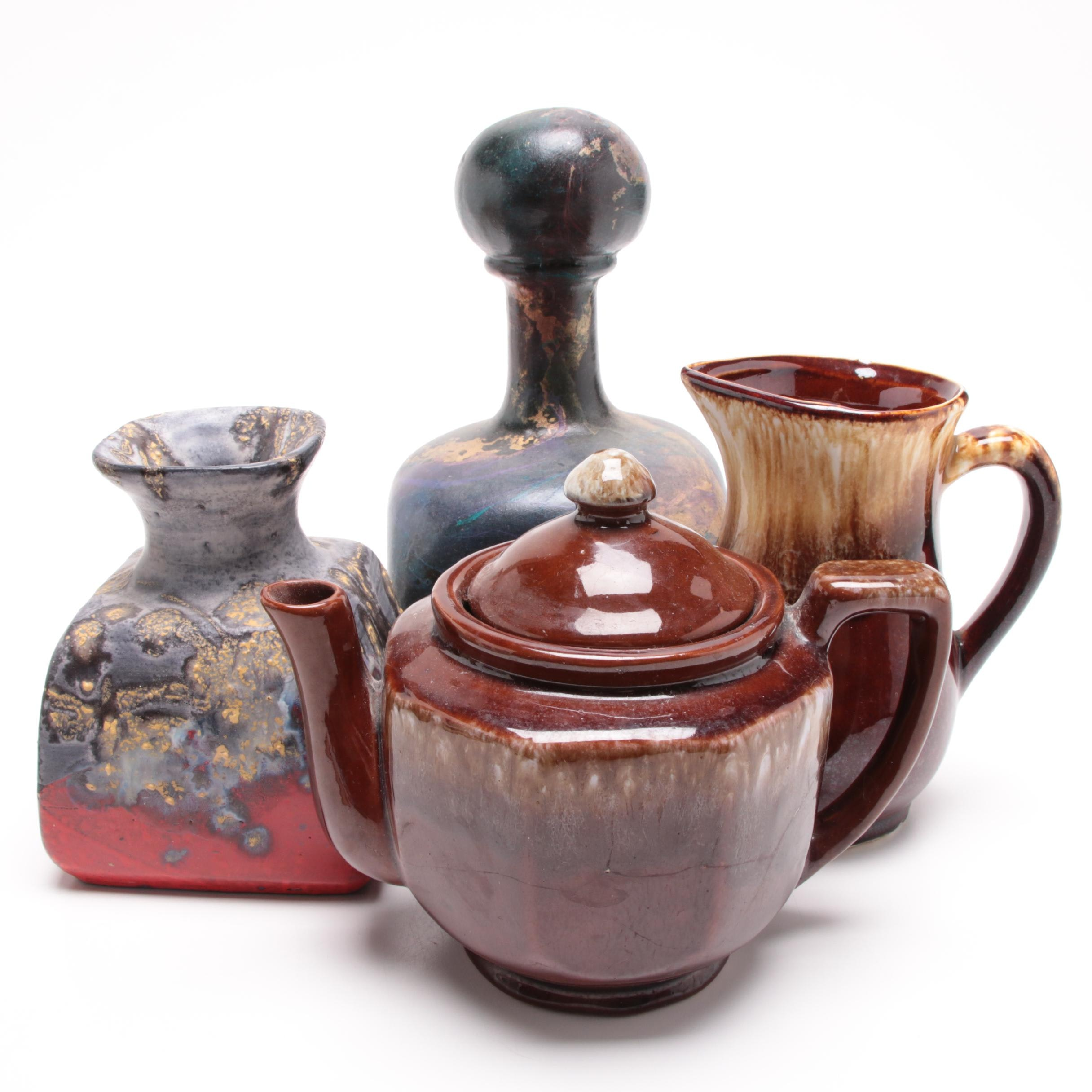 Marcello Fantoni Vase with Teapot and Other Decor