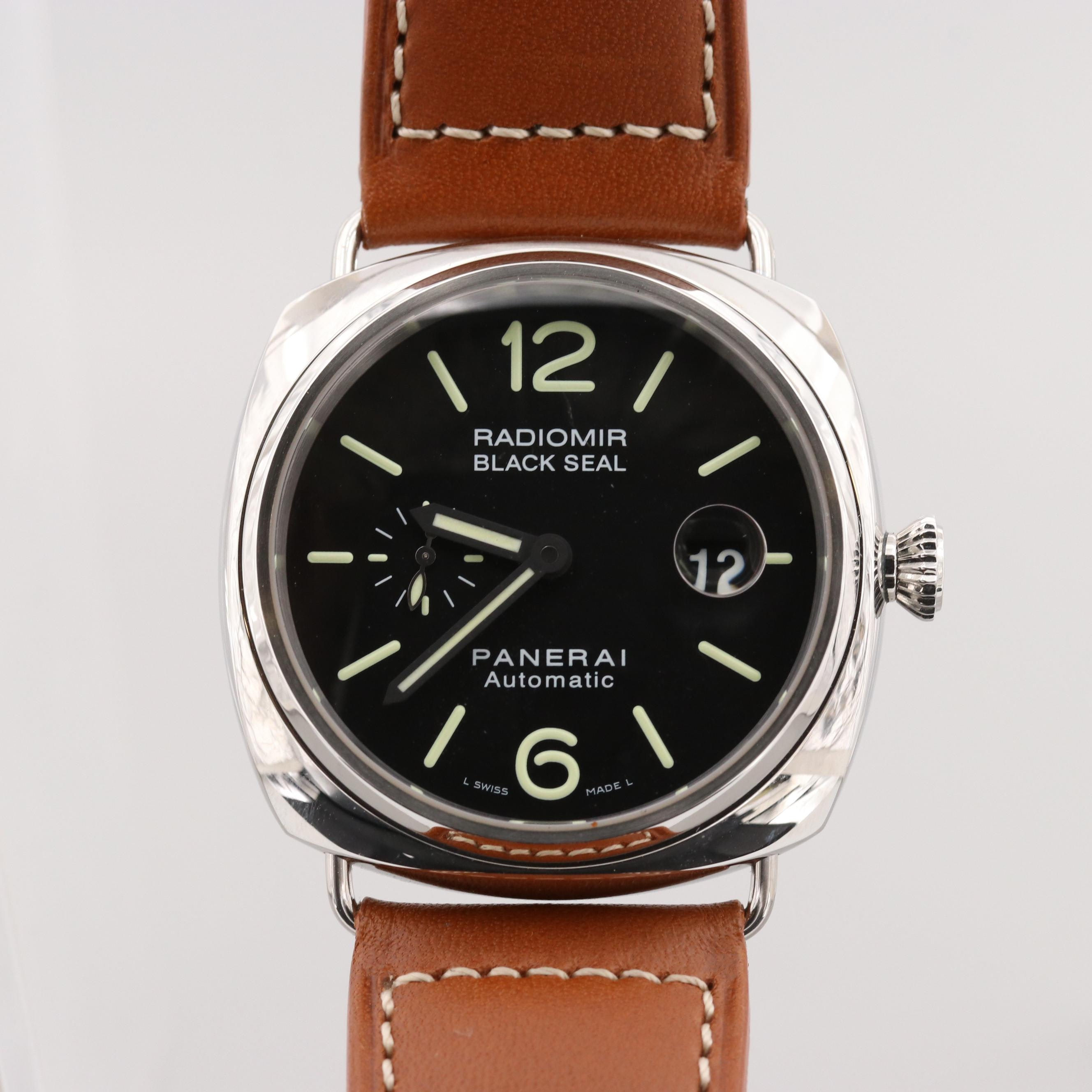 Panerai Radiomir Black Seal Stainless Steel Automatic Wristwatch