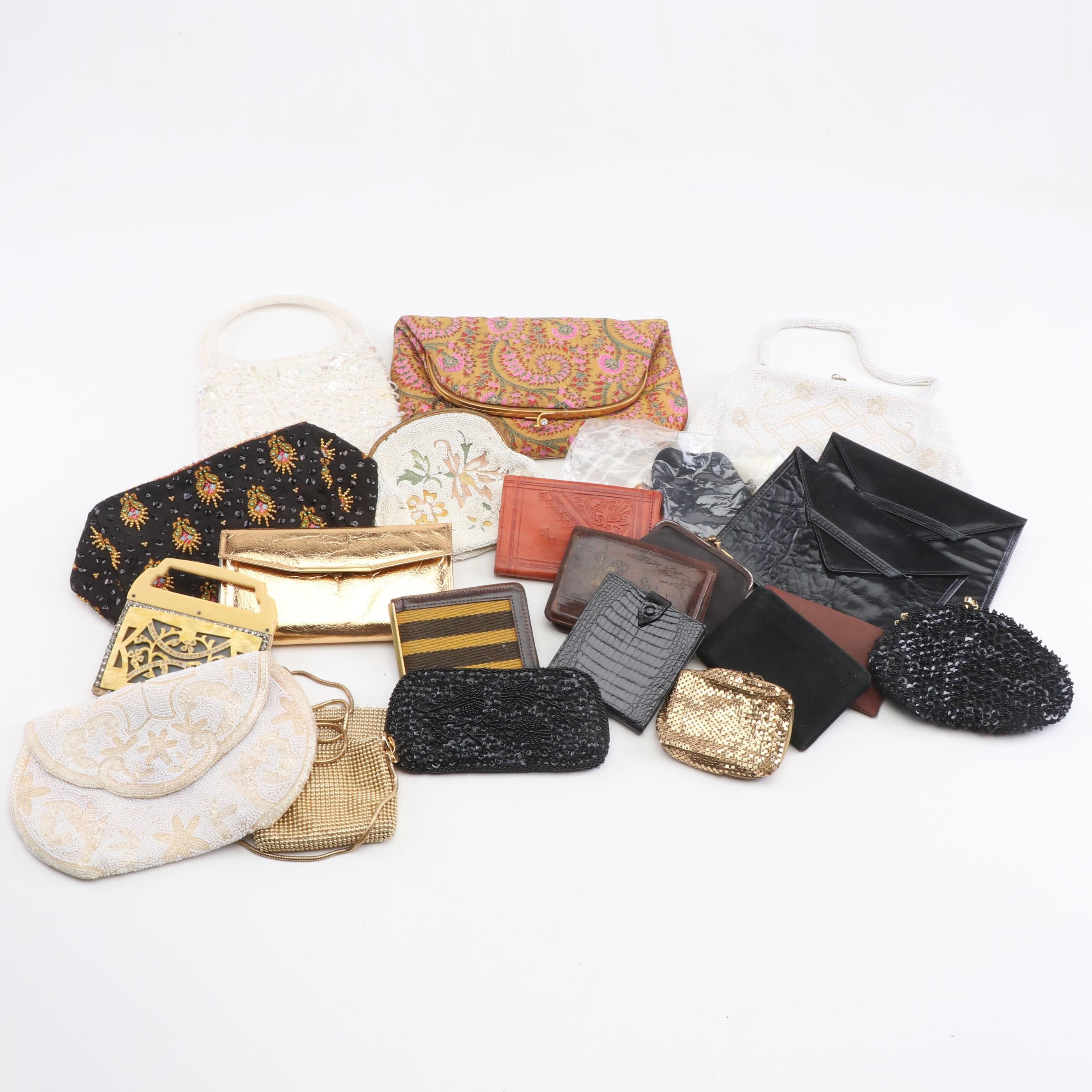 Beaded, Mesh, and Leather Evening Bags and Wallets Including Whiting & Davis
