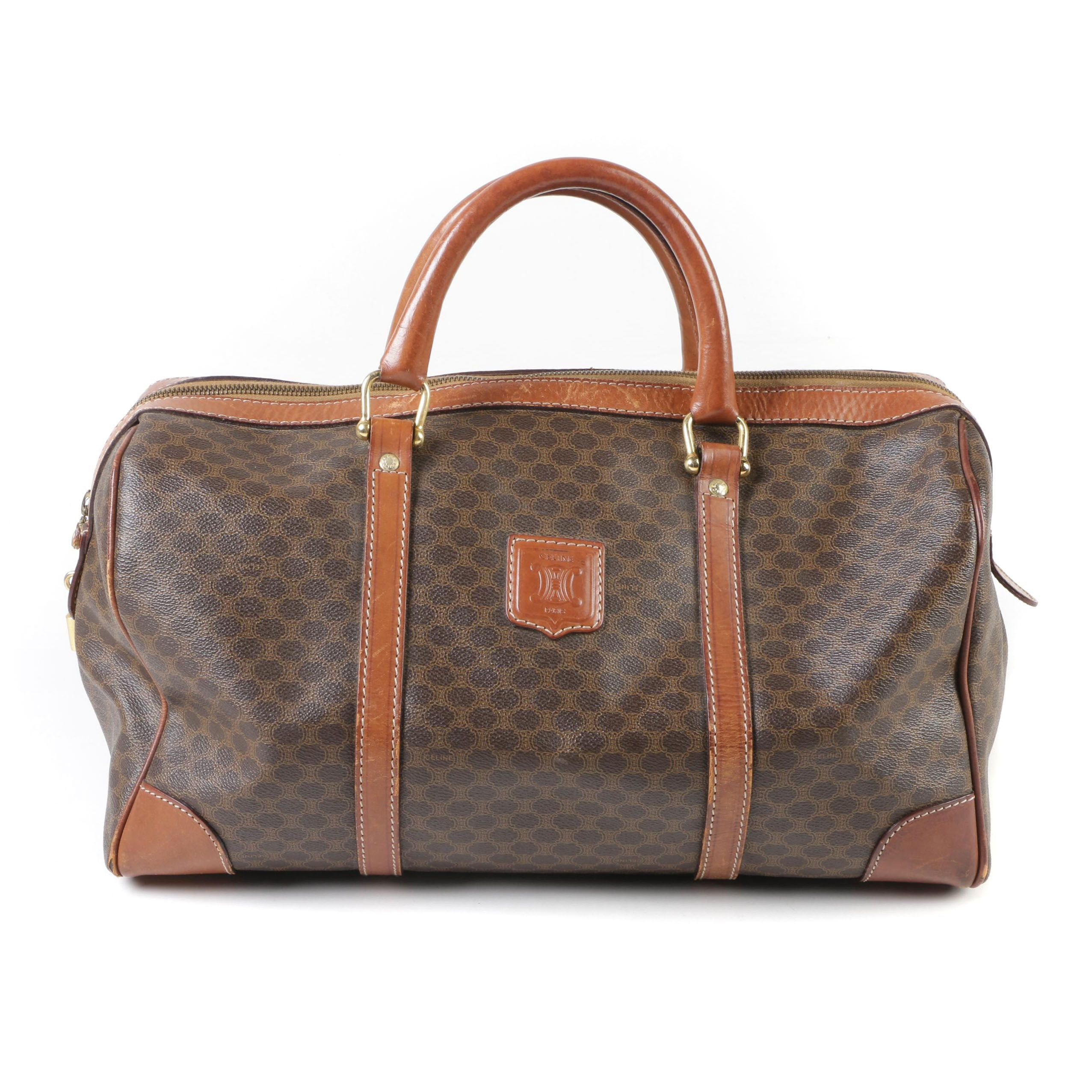 Céline Monogram Macadam Boston Duffle Bag