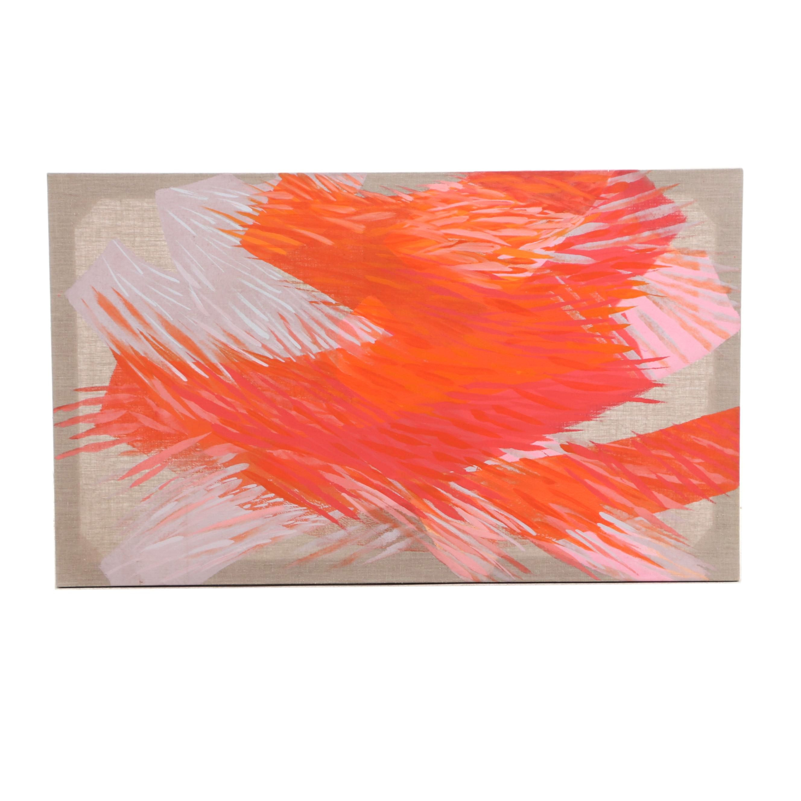 "Kay Muir Acrylic Painting ""Katina's Dance"""