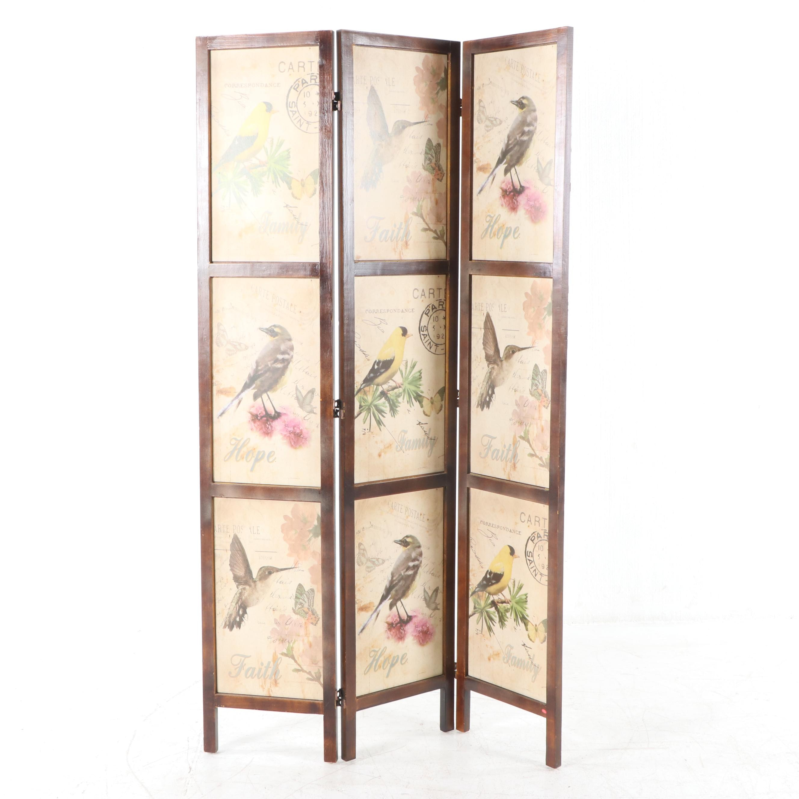 Bird Themed Folding Screen, 21st Century