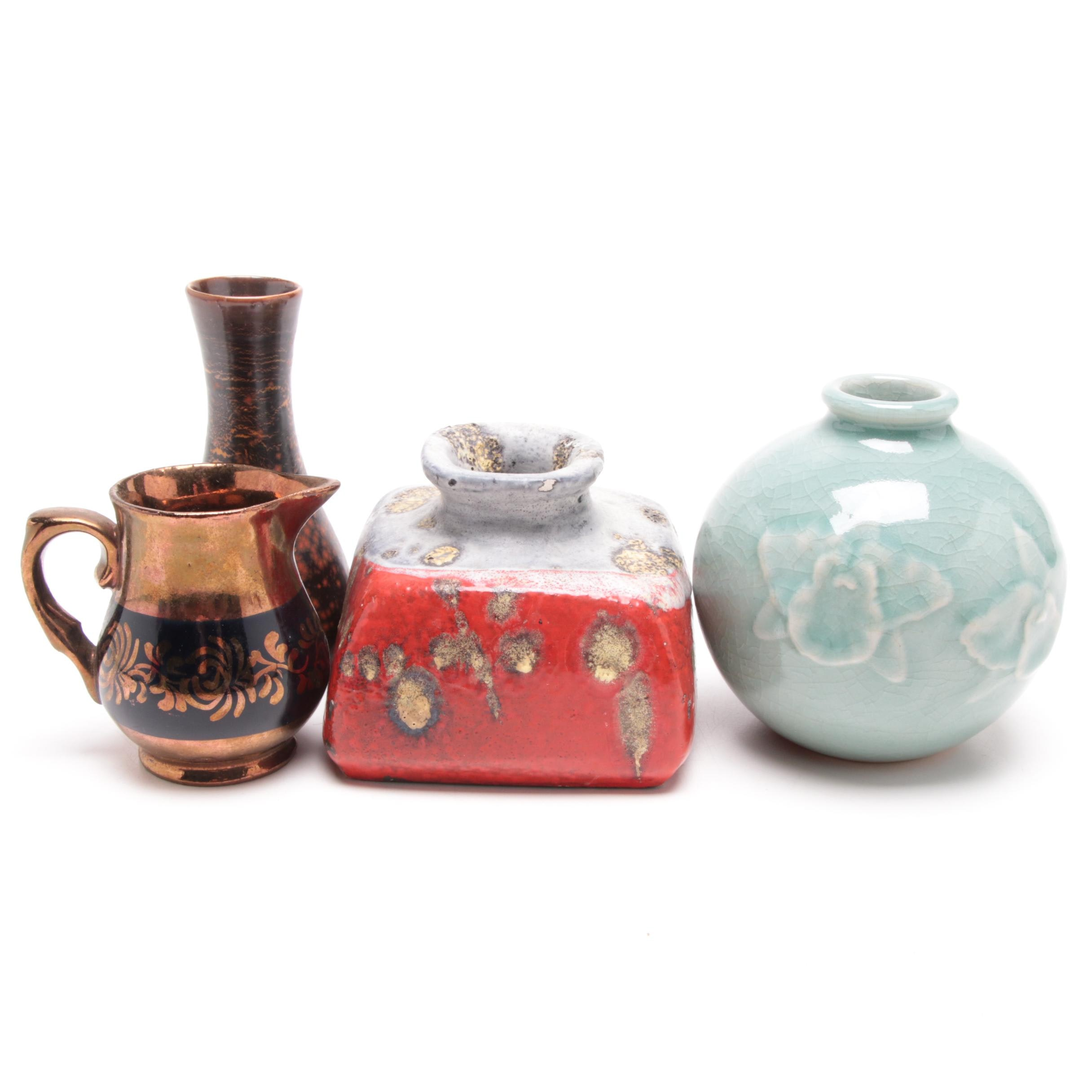 Marcello Fantoni Fantoni Vase with Other Tableware and Decor