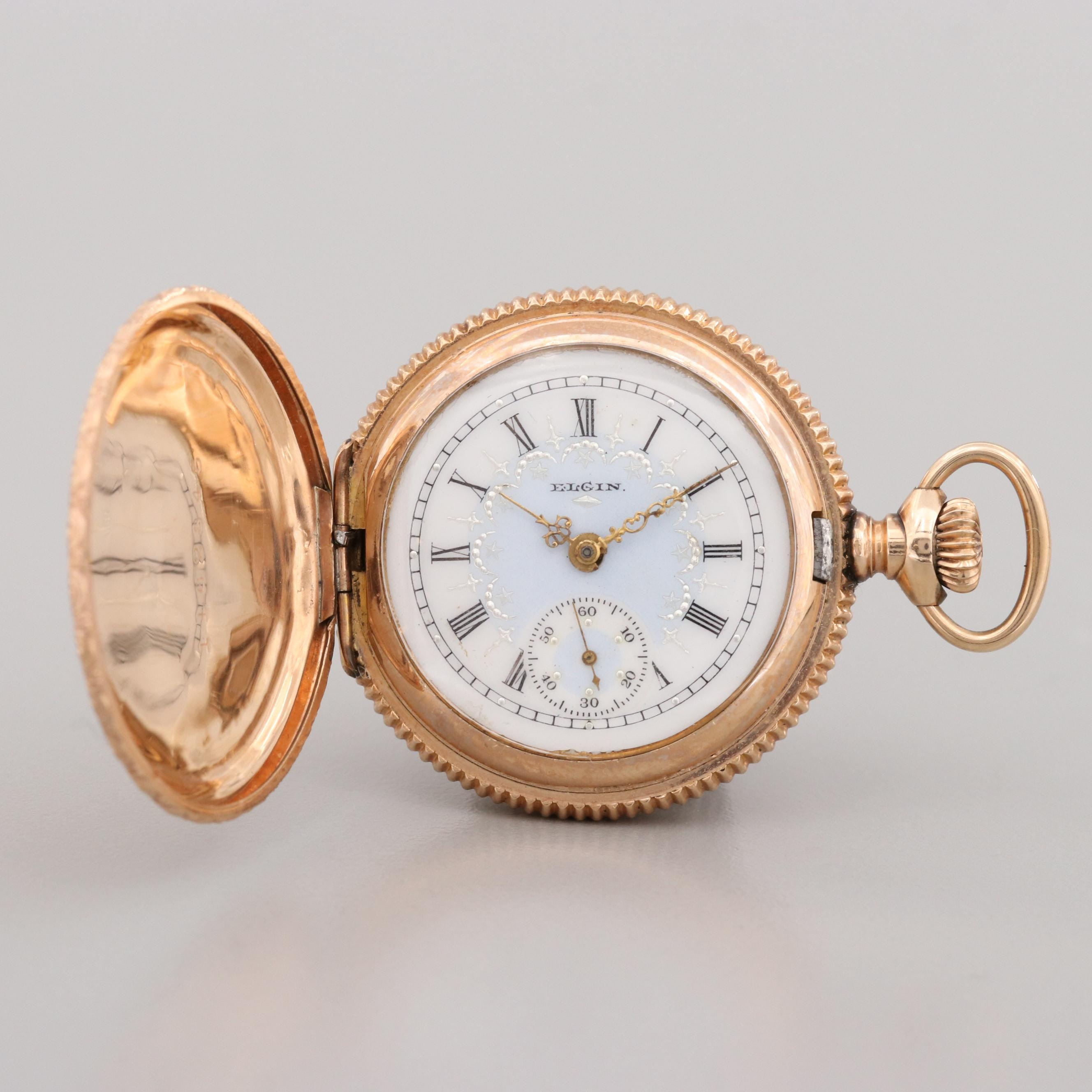 Antique Elgin Green and Yellow Gold Filled Pocket Watch, 1904
