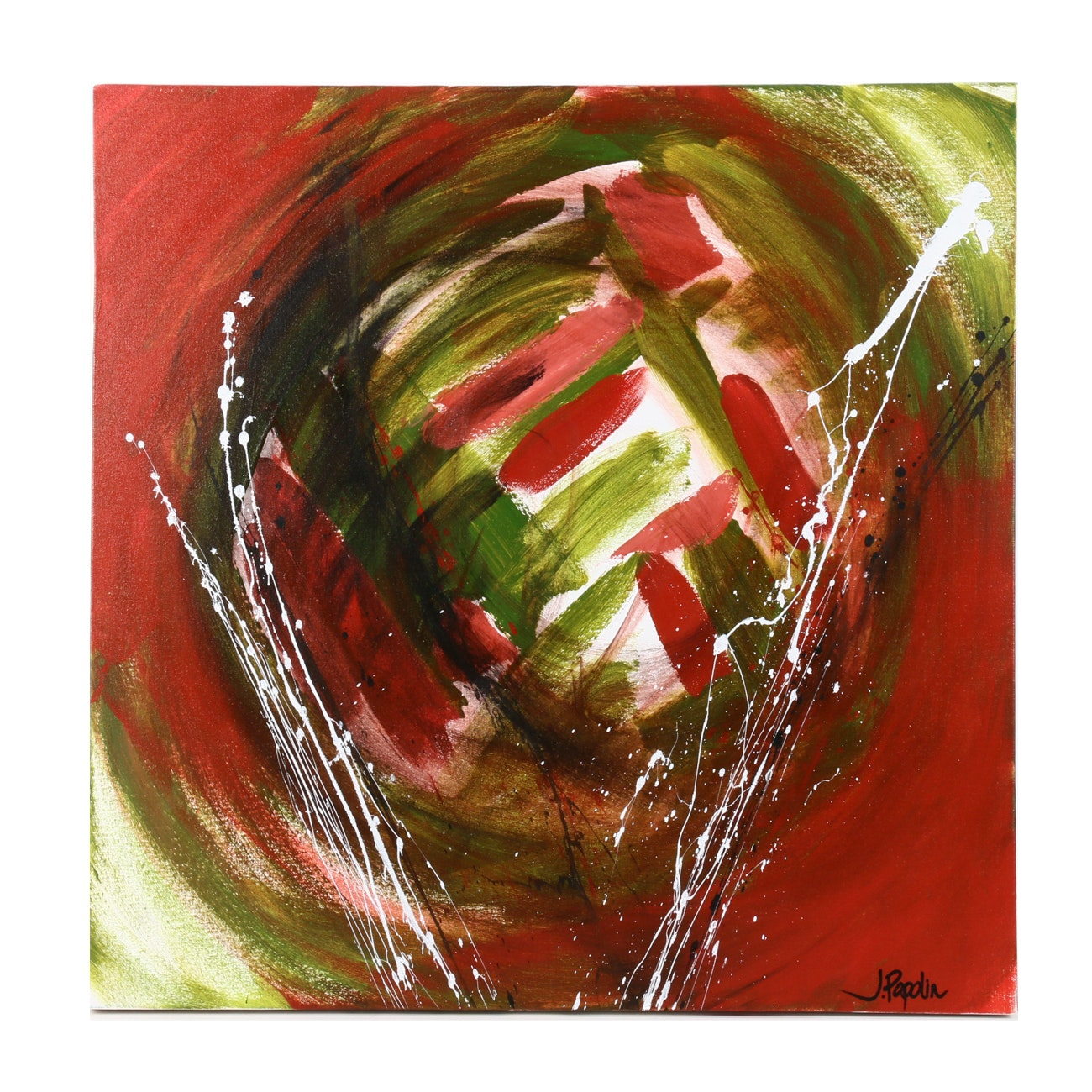 "J. Popolin Acrylic Painting ""Complimentary"""