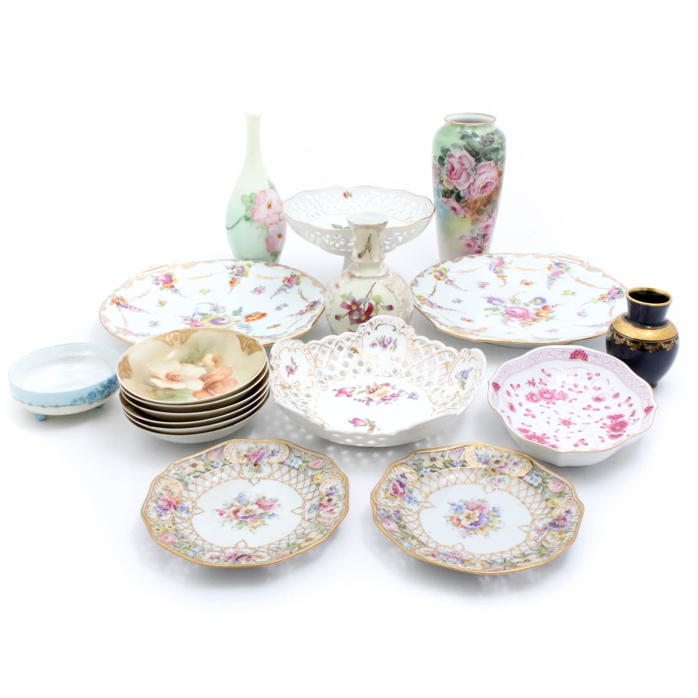 European Hand Painted Porcelain