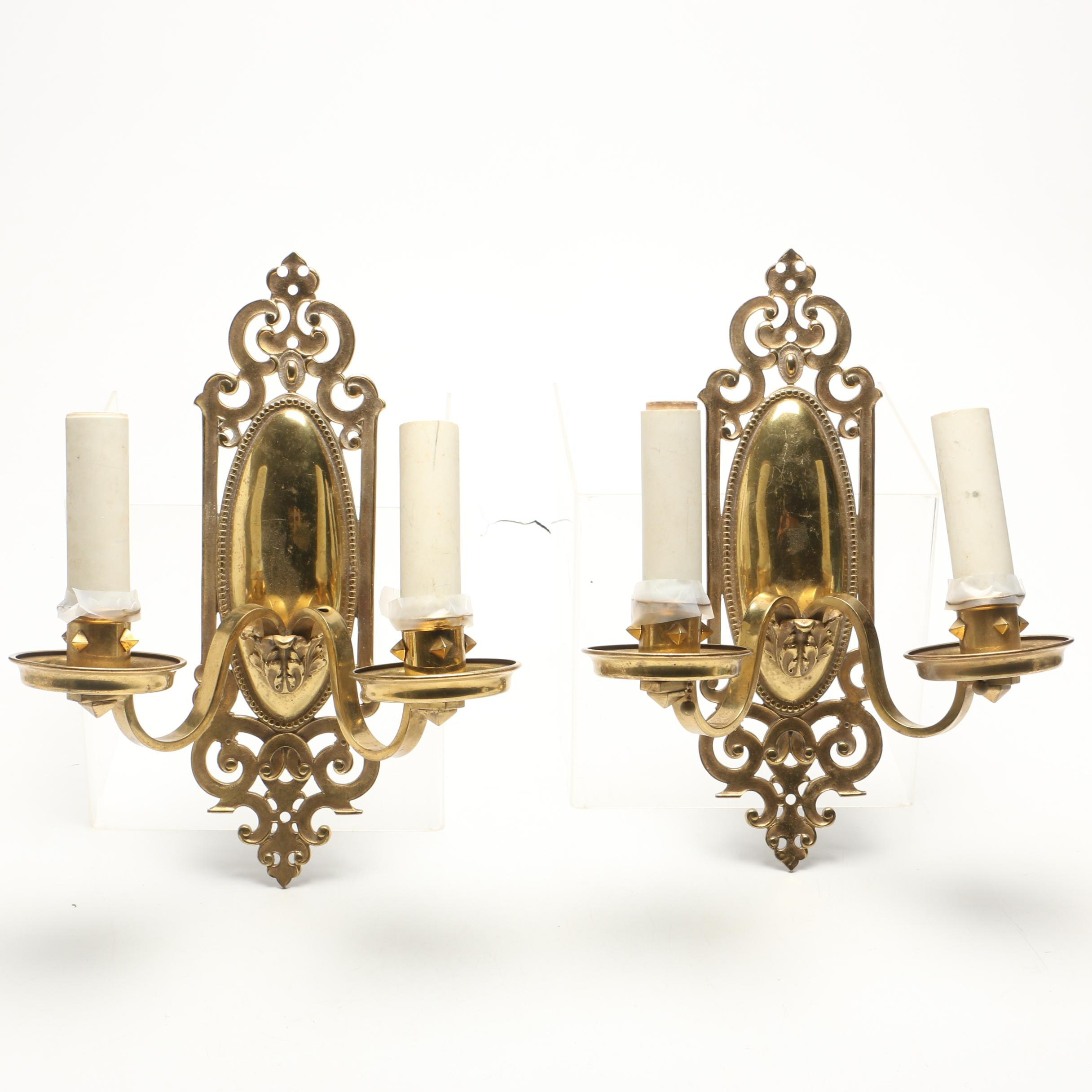 Brass Electric Wall Sconces