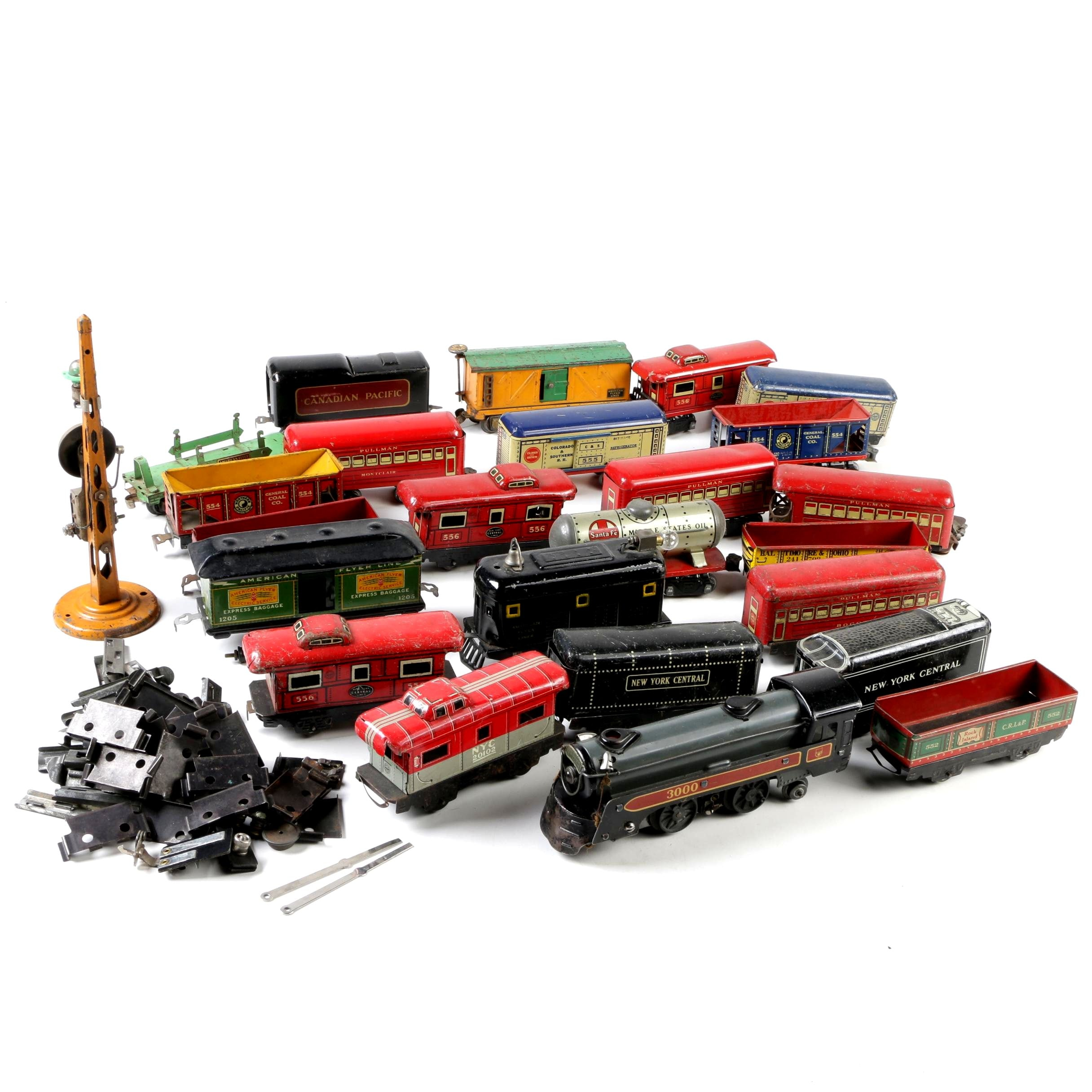 American Flyer Express Baggage and Assorted Train Collection