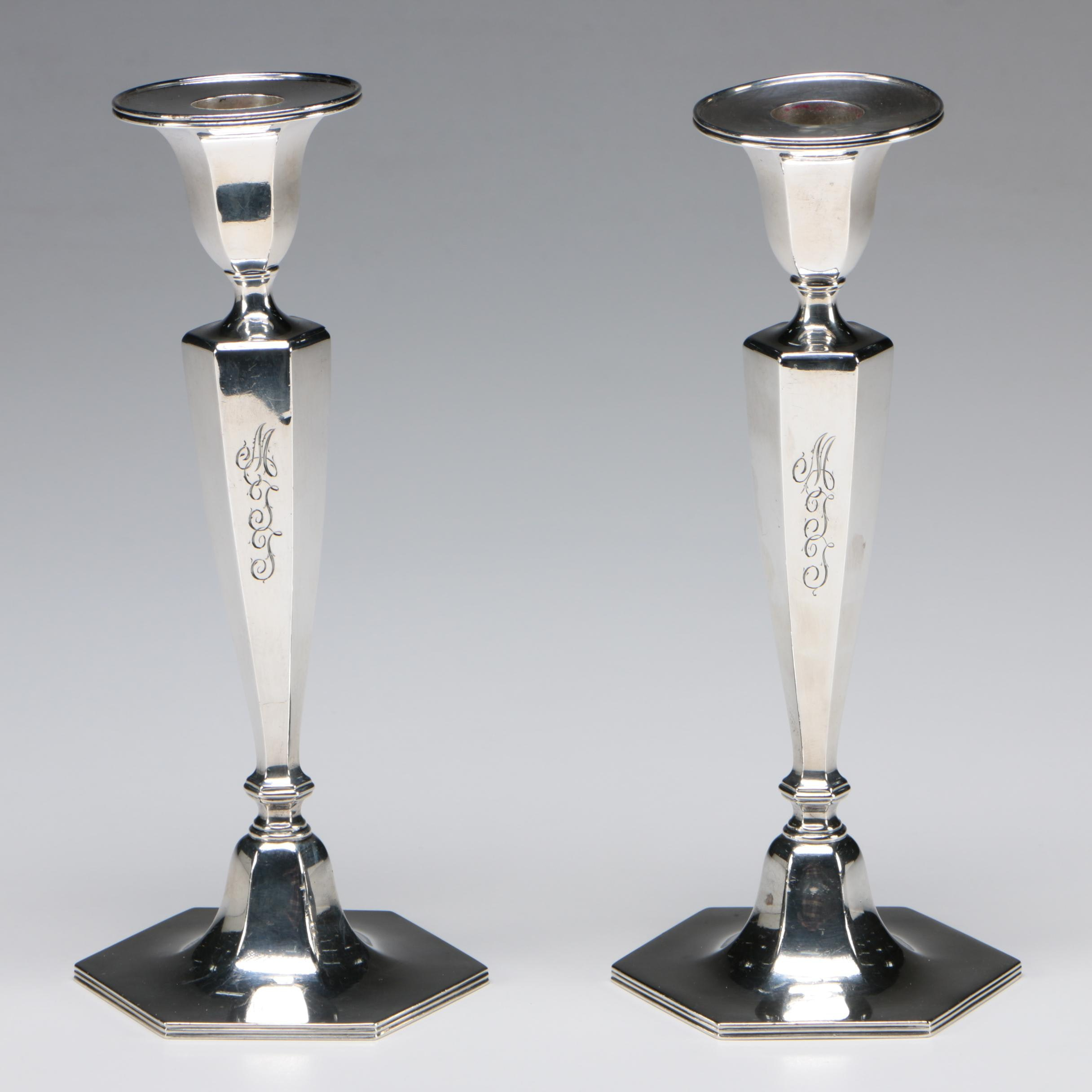 Tiffany & Co. Weighted Sterling Silver Candlesticks, 1906