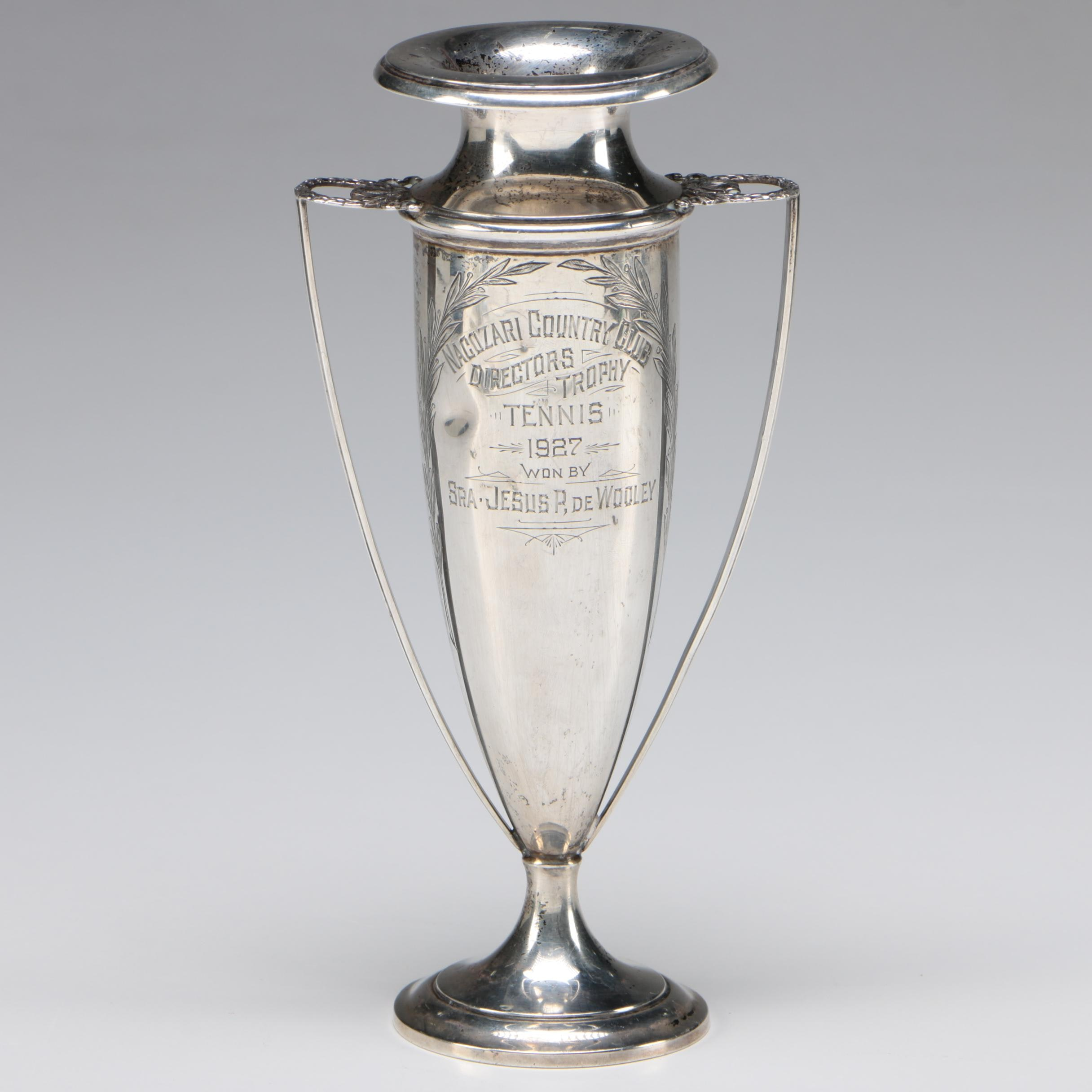 R. Wallace & Sons Sterling Silver Tennis Trophy, circa 1927