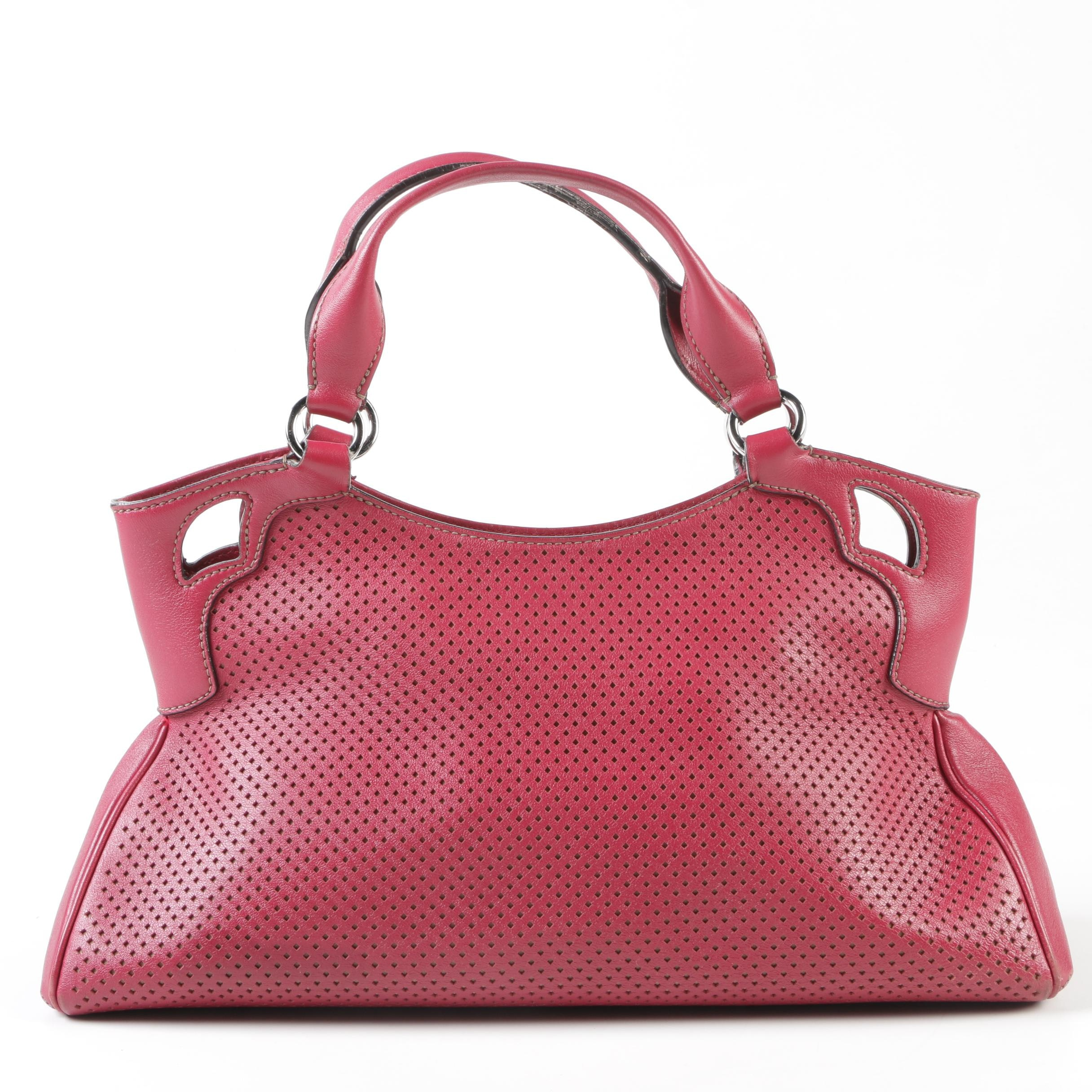 Cartier Perforated Red Leather Marcello de Cartier Small Bag