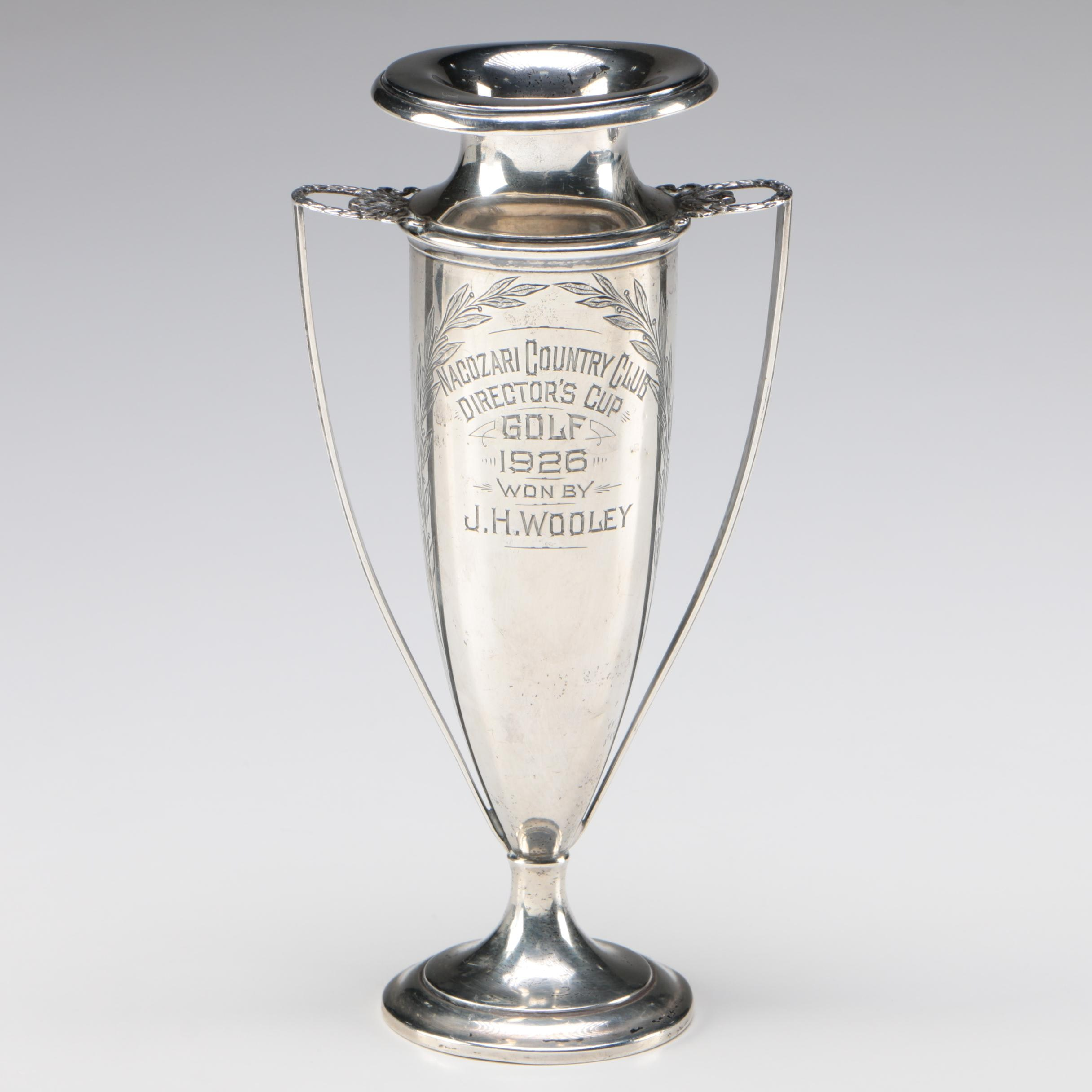 R. Wallace & Sons Sterling Silver Golf Trophy, circa 1926