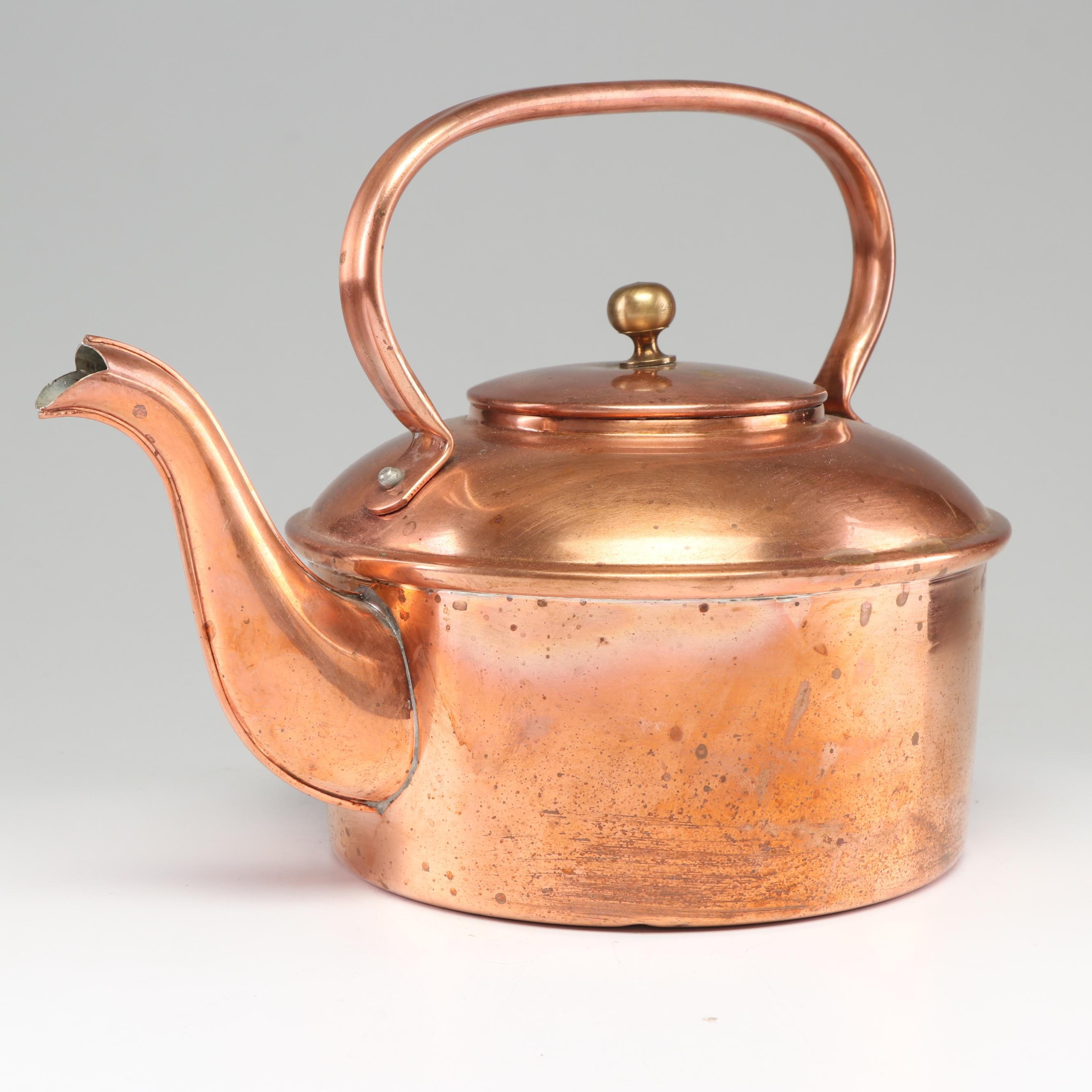 French Copper Kettle Teapot