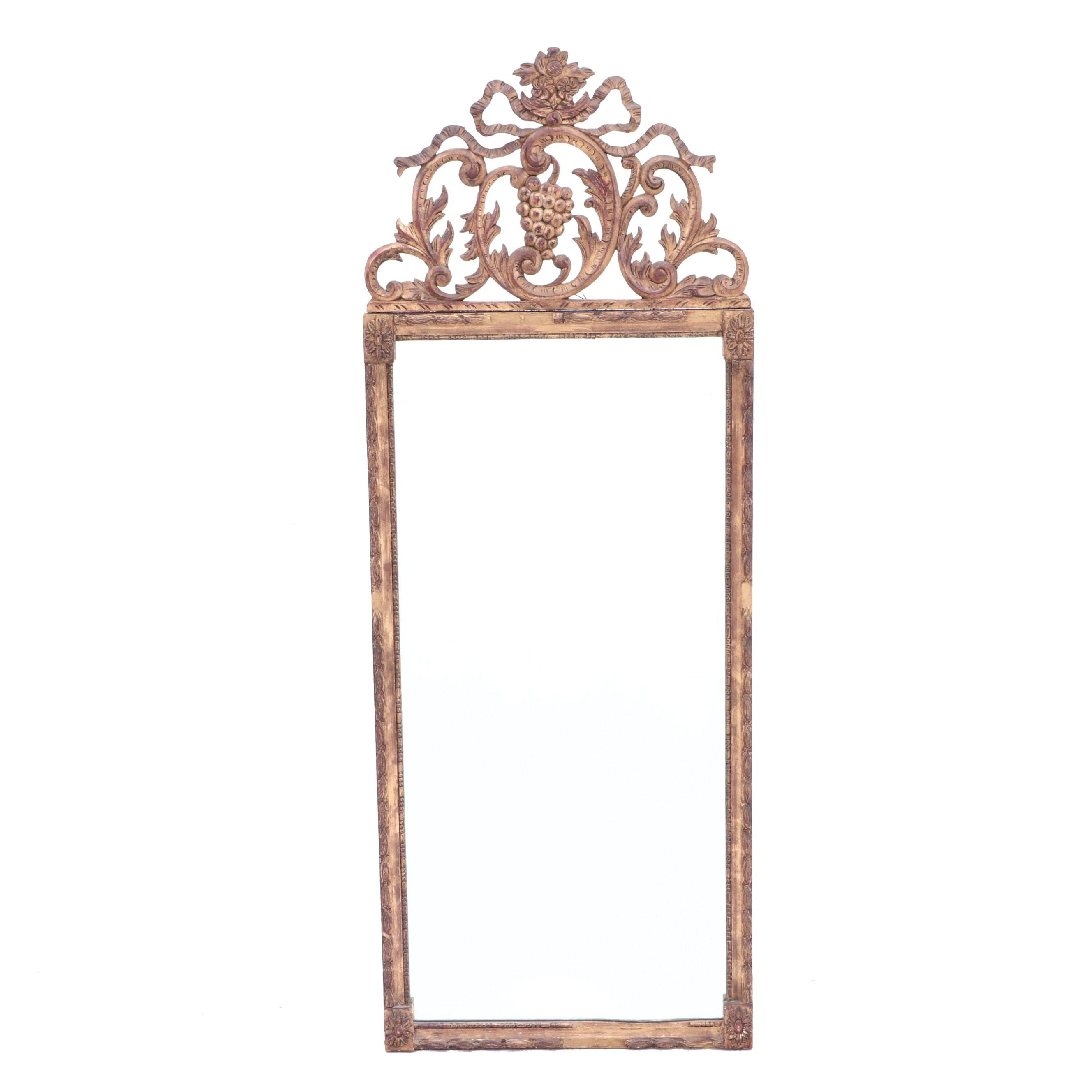 Giltwood Scroll and Acanthus Wall Mirror, Ca. 19th Century