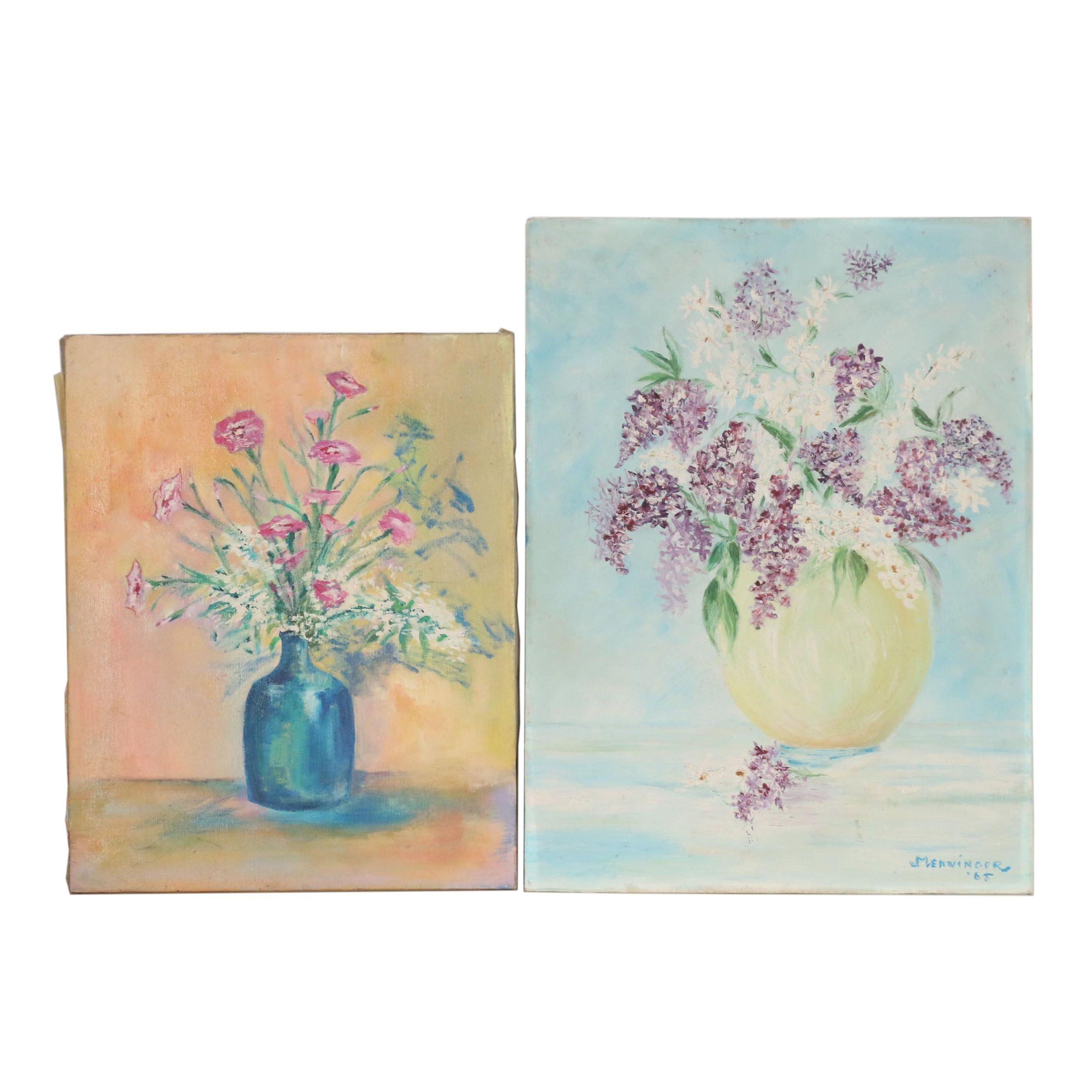 Mid-Late 20th Century Still Life Oil Paintings