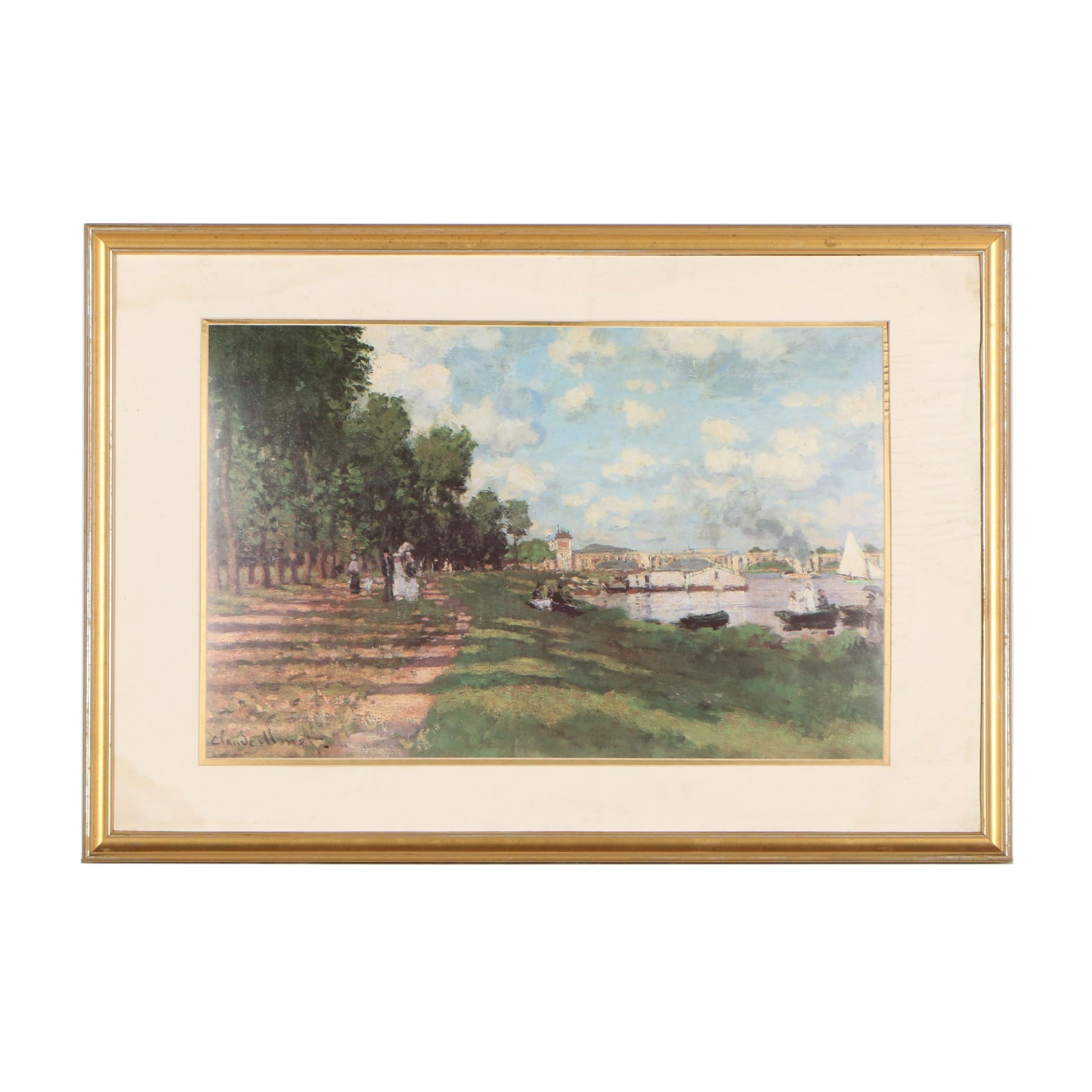 "Offset Lithograph after Claude Monet ""Bassin d'Argenteuil"""