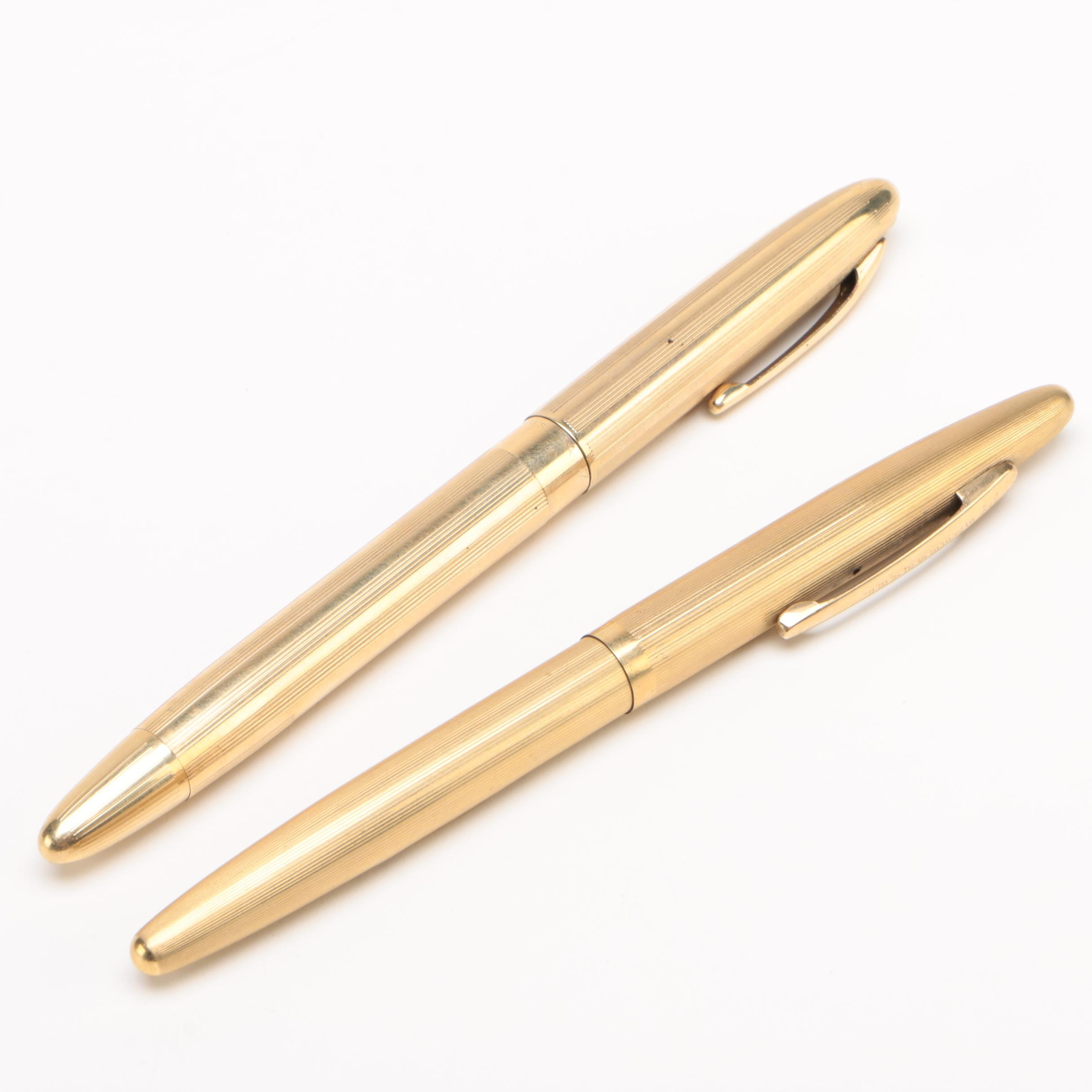 Wahl-Eversharp and Sheaffer's Gold-Plated Fountain Pens