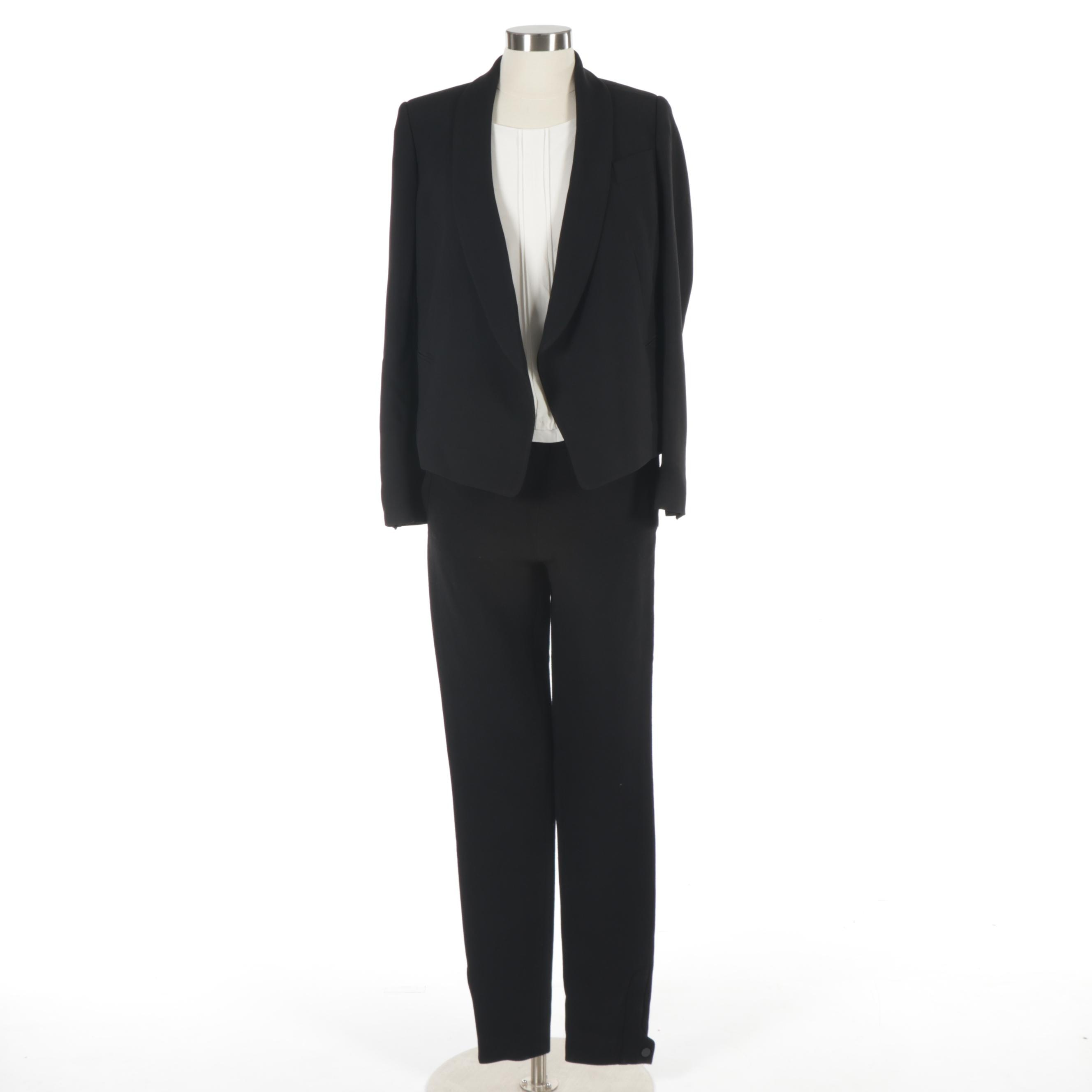 Women's Chloé Blazer, Chanel Trousers, and Trina Turk Sleeveless Top